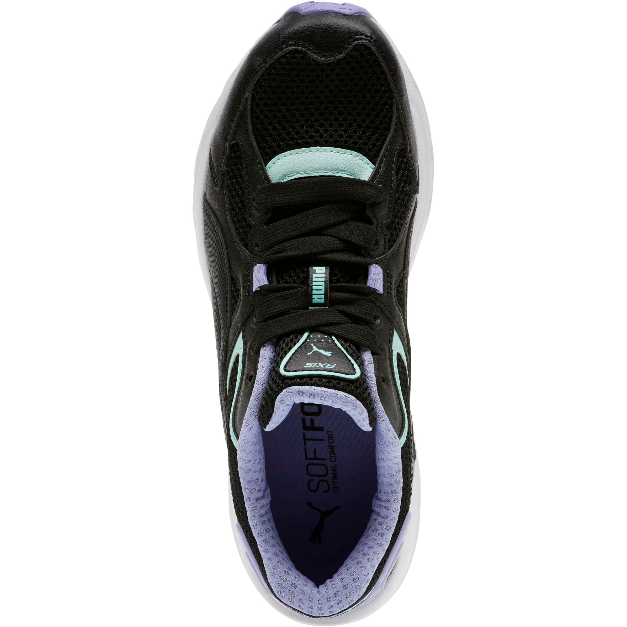 Thumbnail 5 of Axis Plus 90s Women's Sneakers, Black-F Aqua-S Lavender-Wht, medium