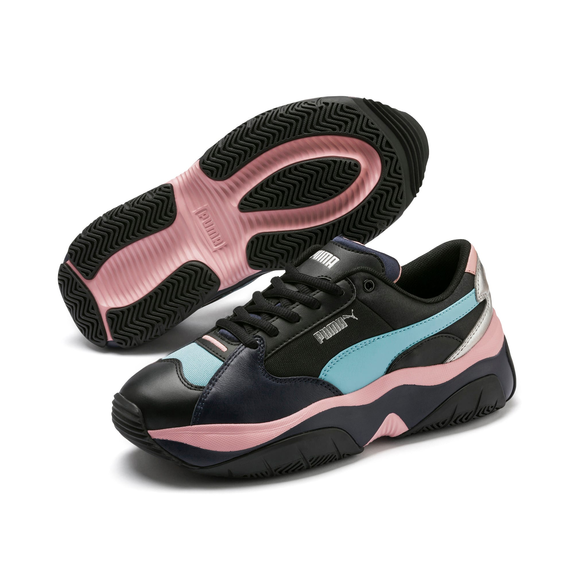 Thumbnail 3 of Basket STORM.Y Metallic pour femme, Puma Black, medium