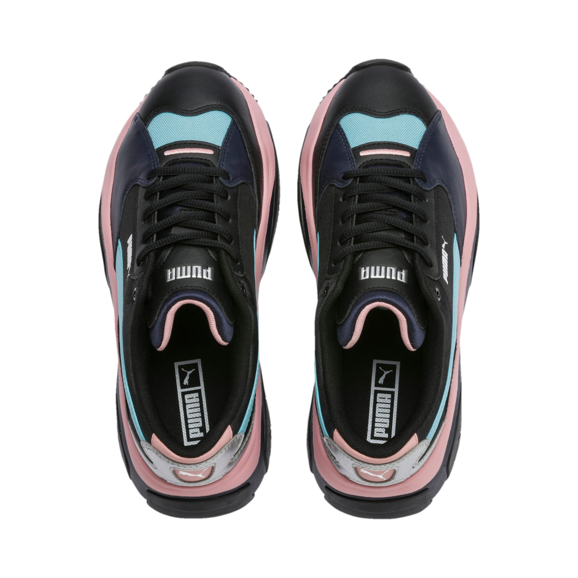 Thumbnail 7 of STORM.Y Metallic Women's Trainers, Puma Black, medium