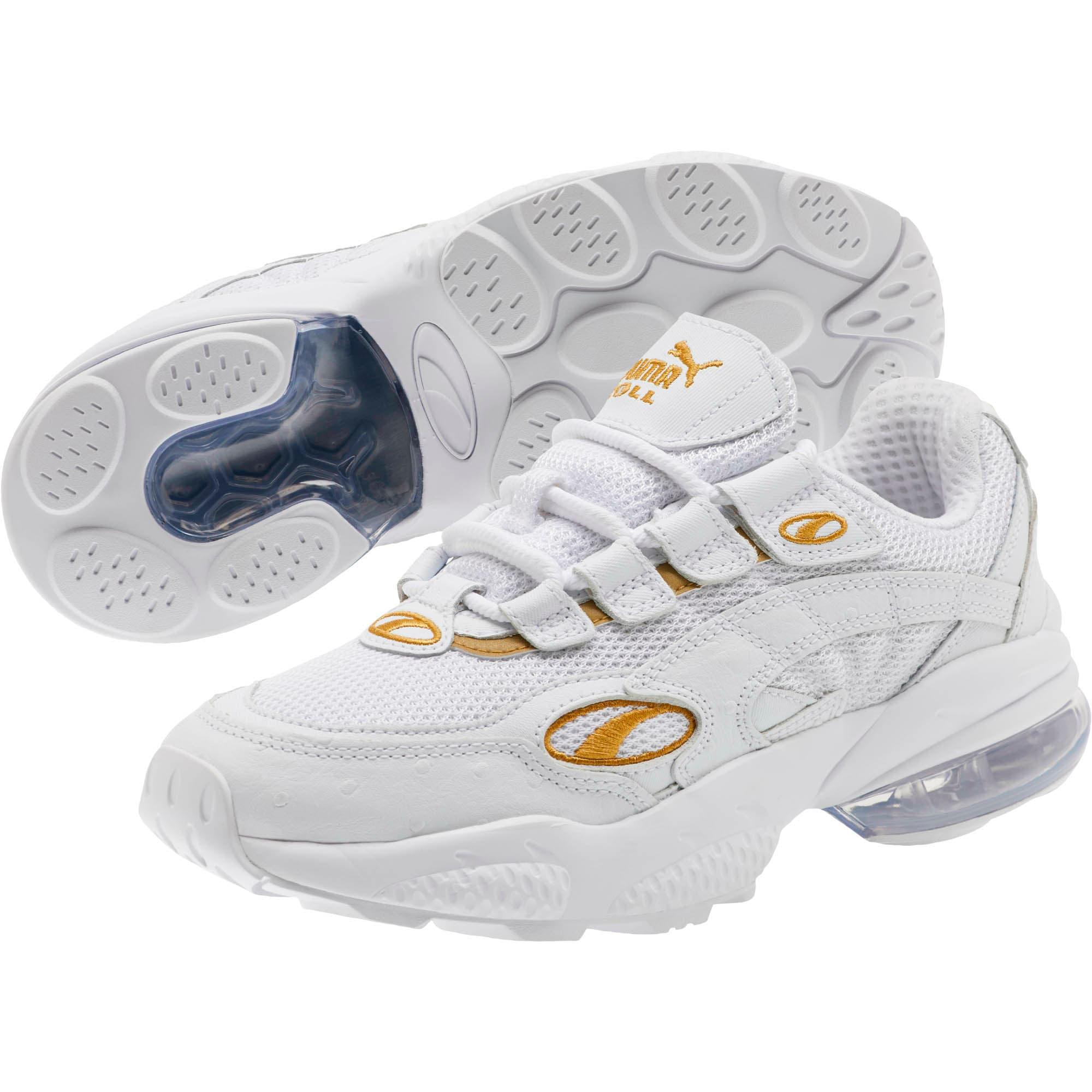 Thumbnail 2 of CELL Venom WO Women's Sneakers, Puma White-Puma Team Gold, medium