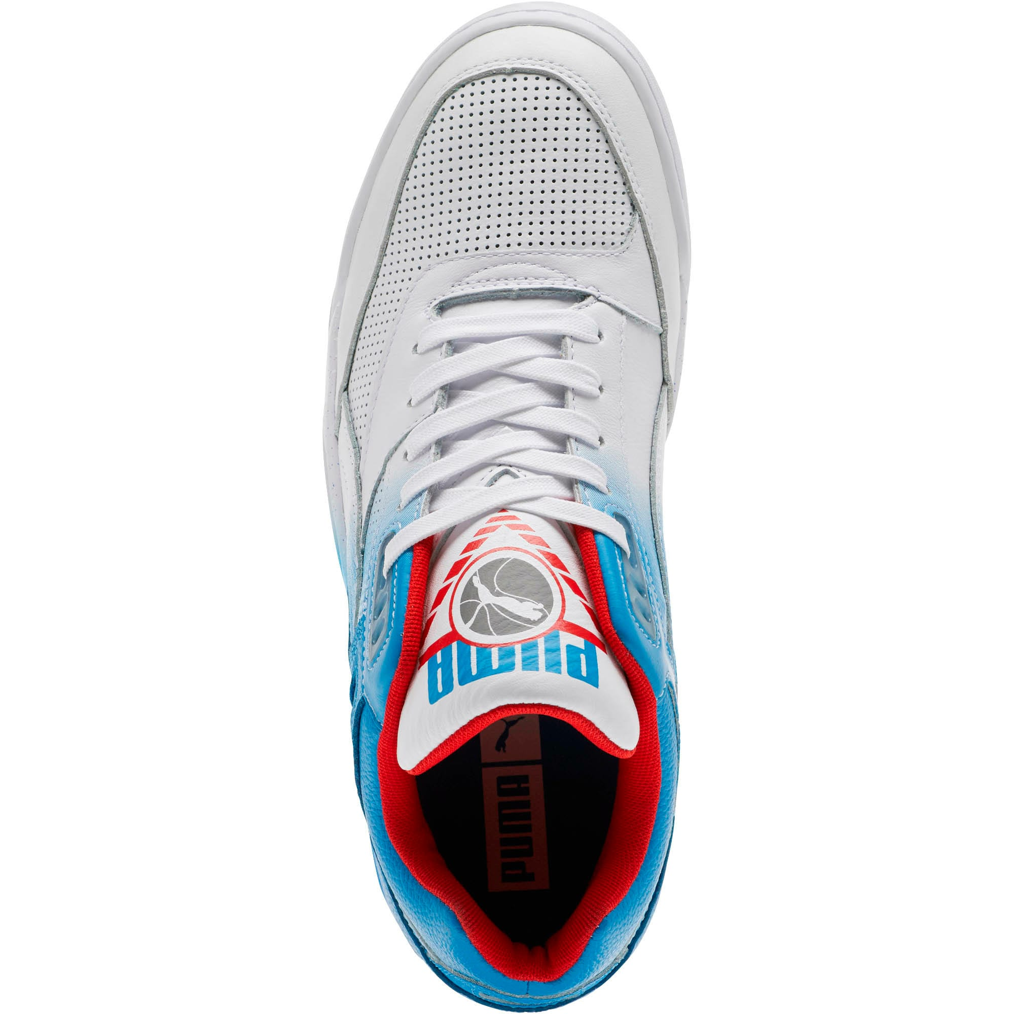 Palace Guard Retro Sneakers, White-Indigo-Red, large