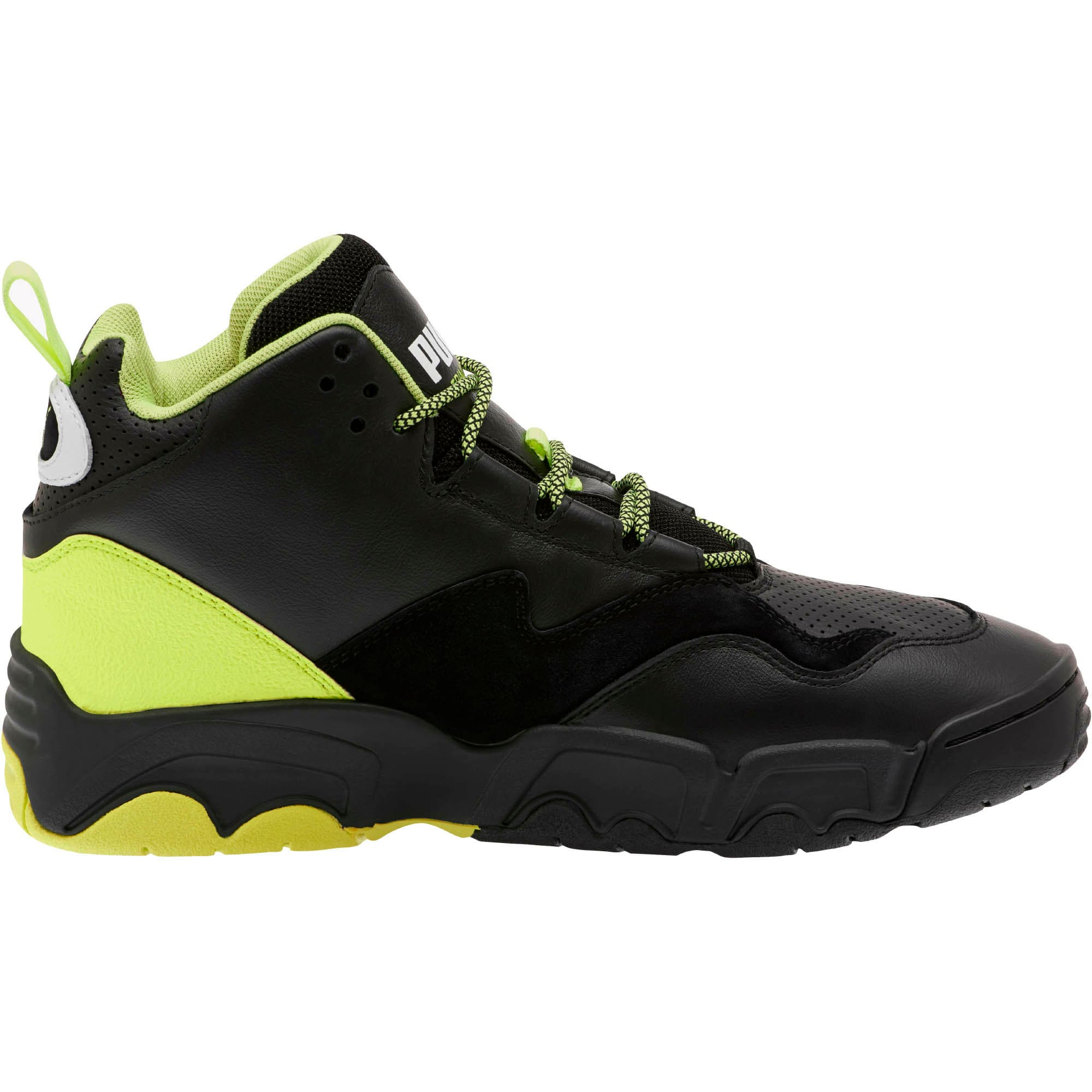 Source Mid Retro 2 Sneakers, Black-Fizzy Yellow-Pu White, large
