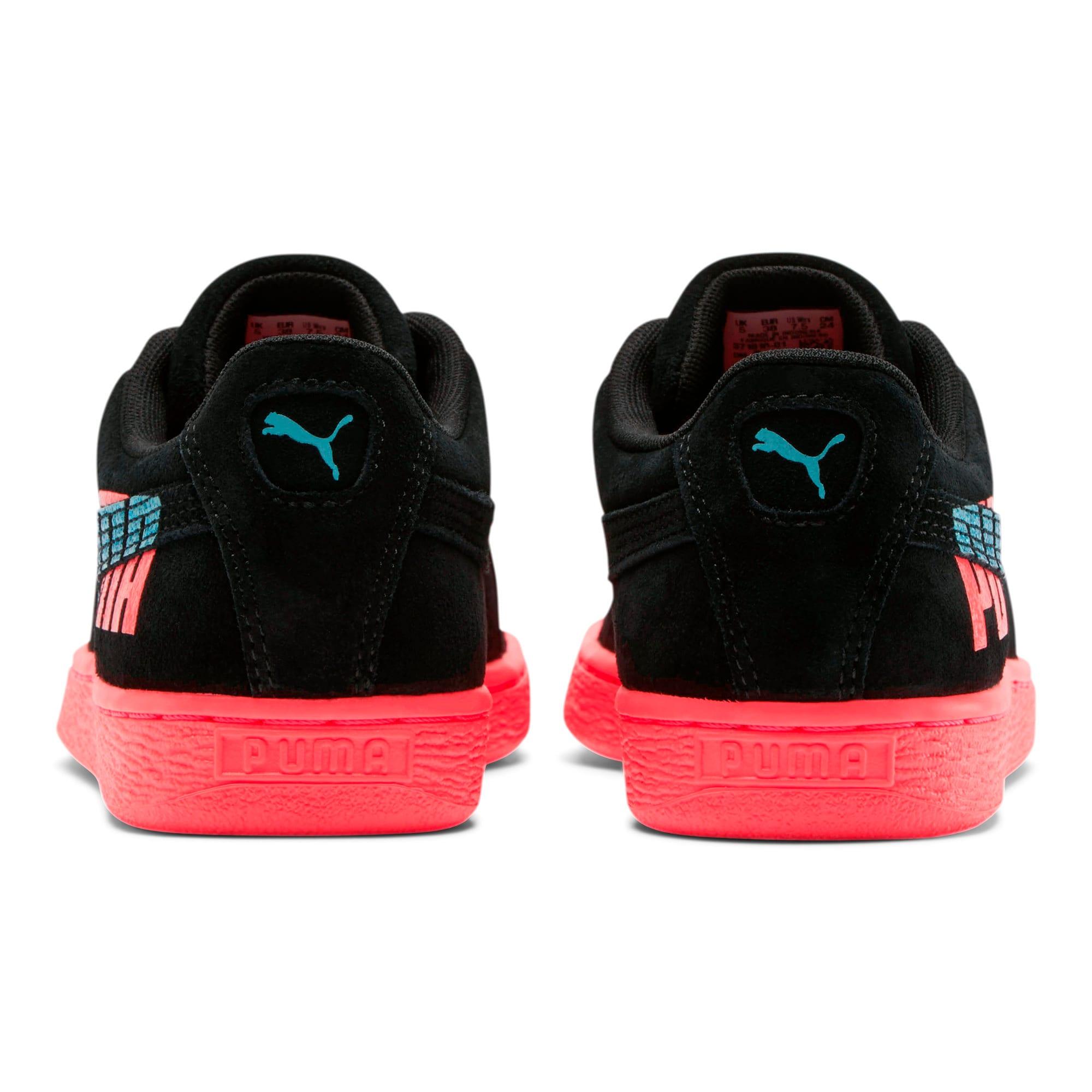 Thumbnail 3 of Suede Classic Glitz Women's Sneakers, Pink Alert-Puma Black, medium