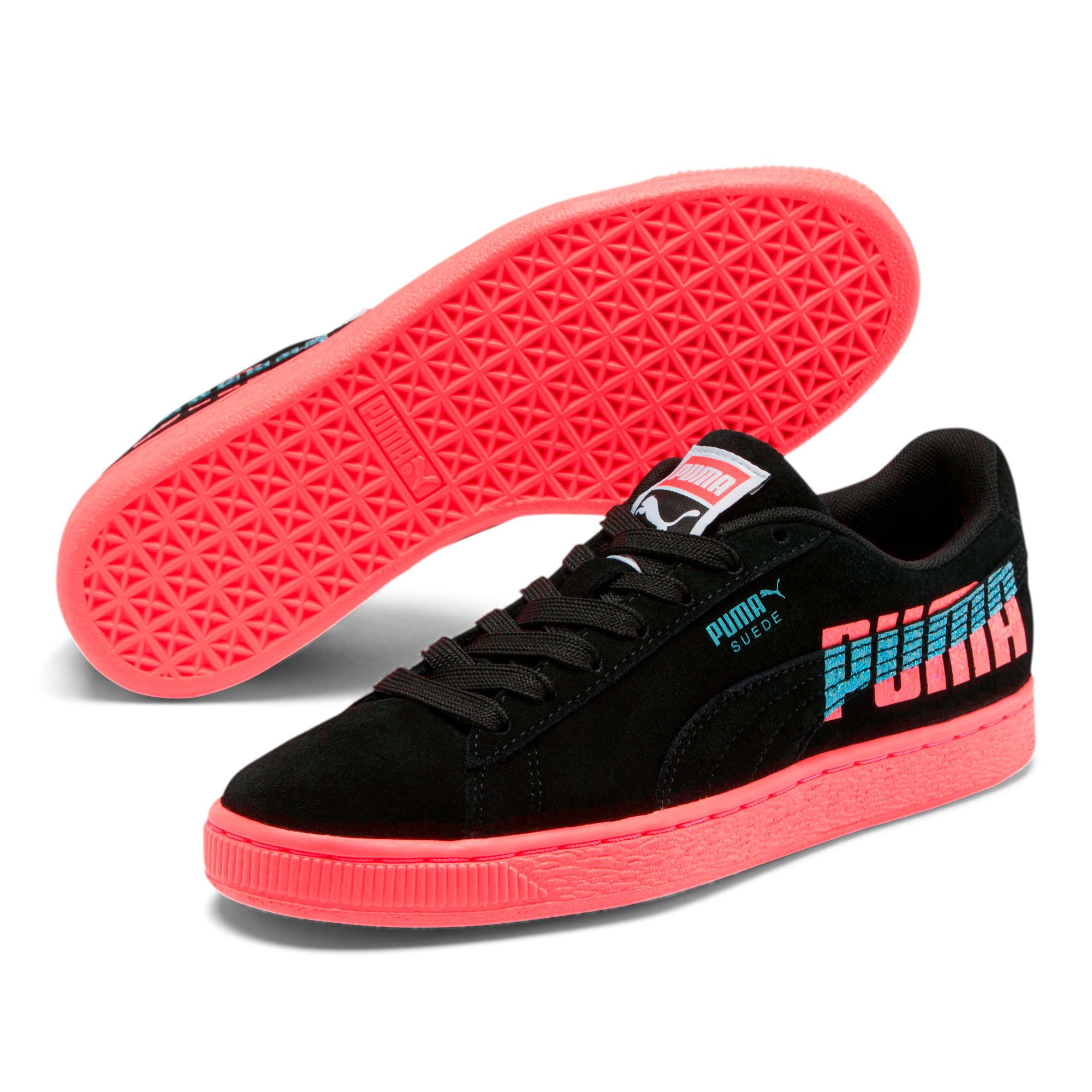Thumbnail 2 of Suede Classic Glitz Women's Sneakers, Pink Alert-Puma Black, medium