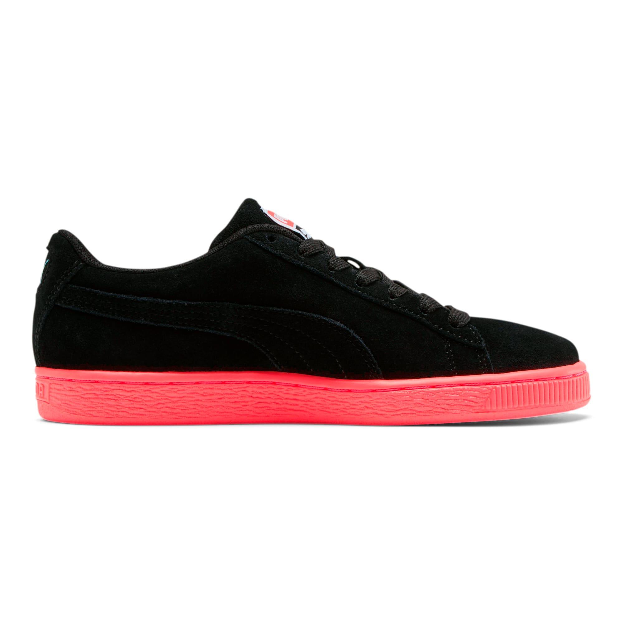 Thumbnail 5 of Suede Classic Glitz Women's Sneakers, Pink Alert-Puma Black, medium