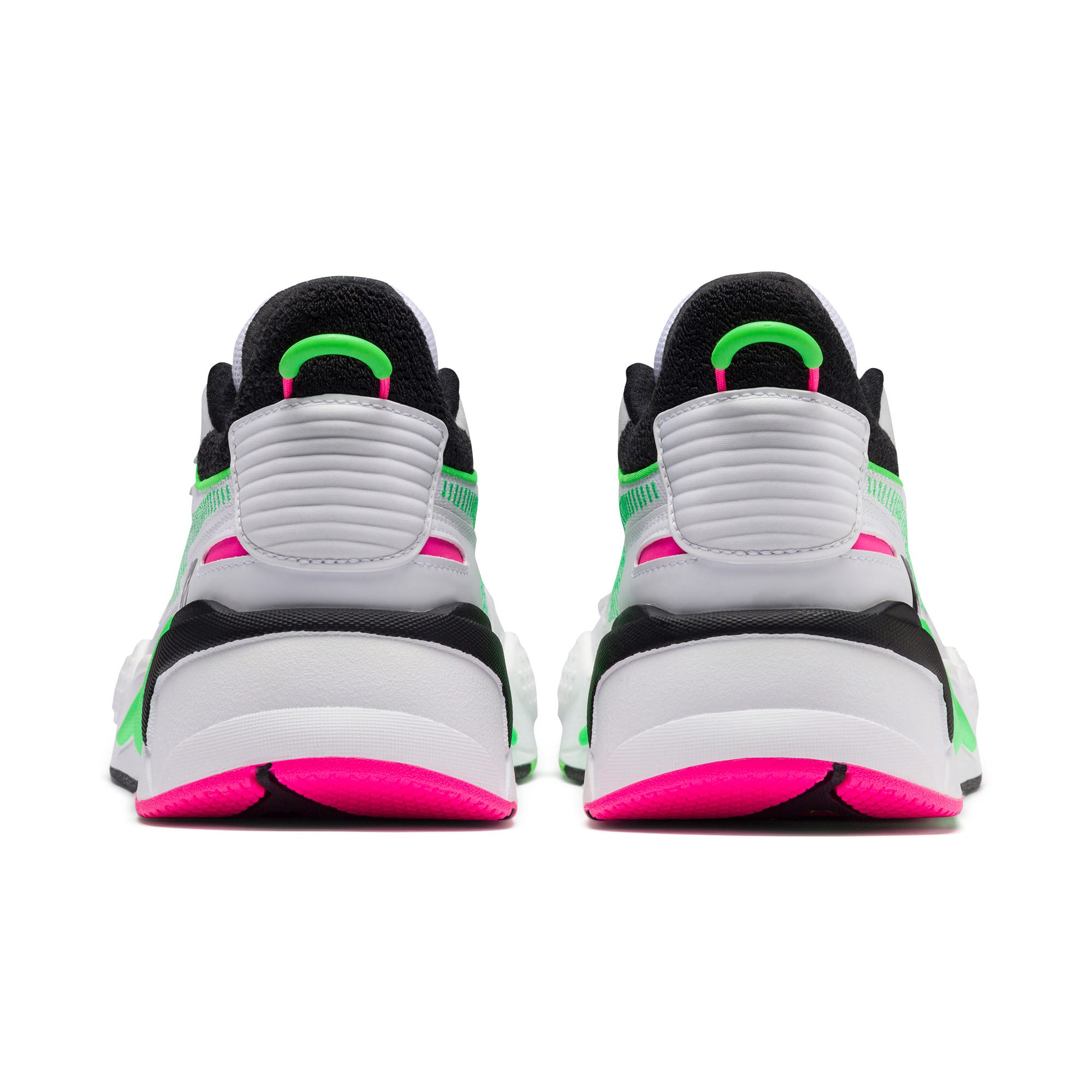 Thumbnail 3 of PUMA x MTV RS-X Tracks Yo! Raps Europe Sneaker, Puma White-802 C Fluro Green, medium