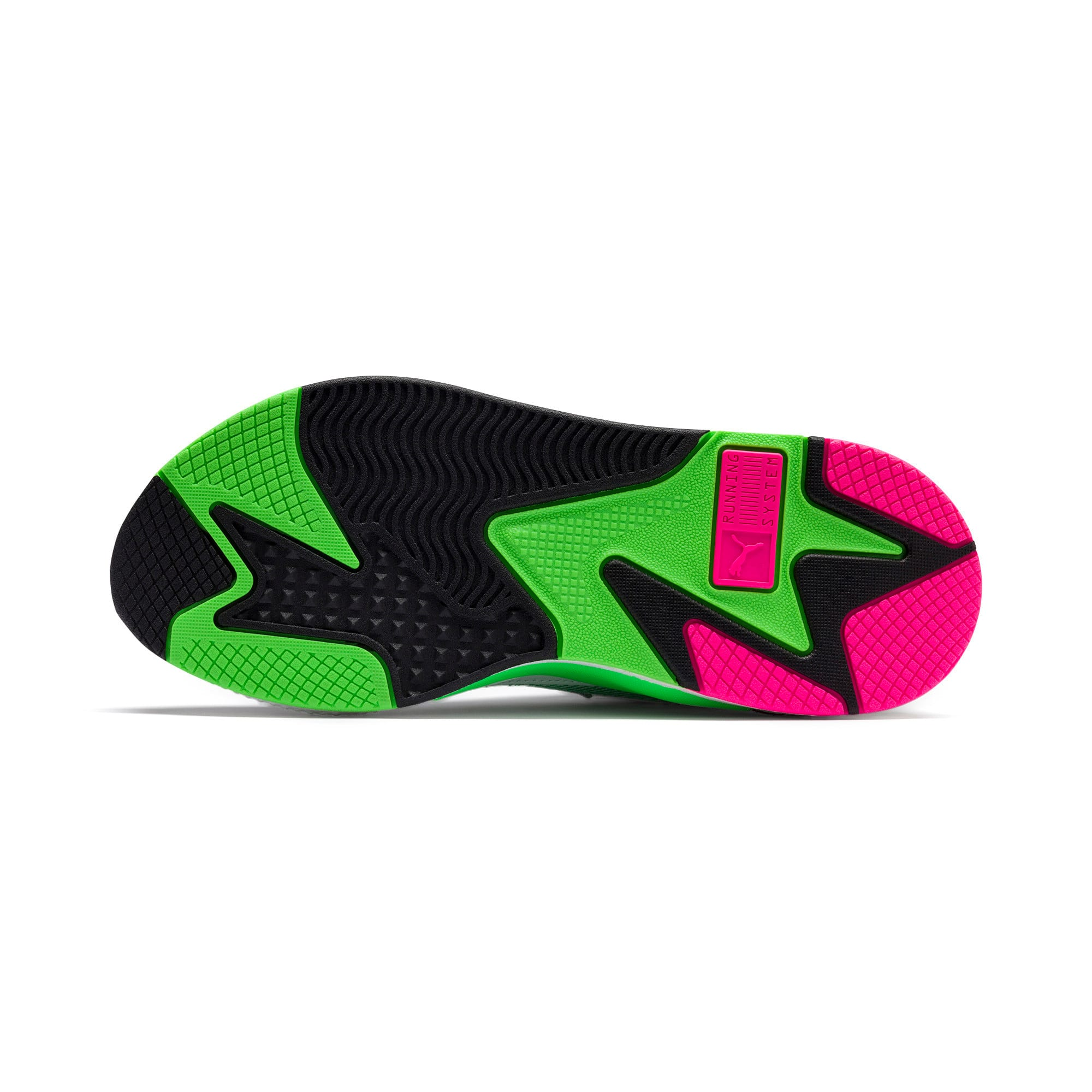 Thumbnail 4 of PUMA x MTV RS-X Tracks Yo! Raps Europe Sneaker, Puma White-802 C Fluro Green, medium