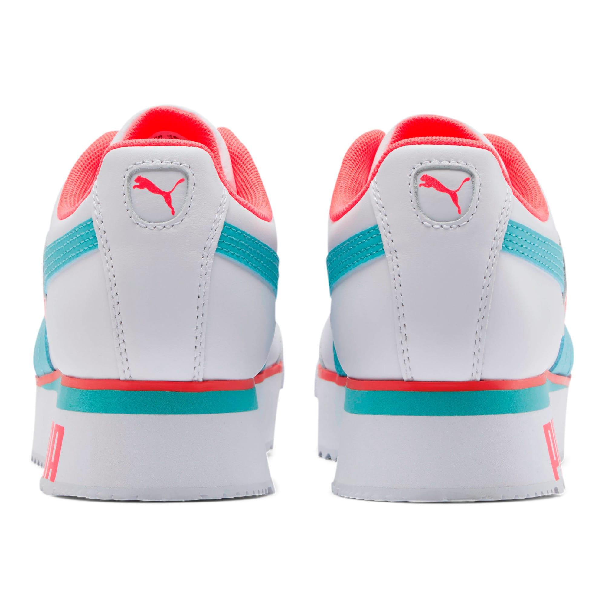 Thumbnail 3 of Roma Amor Heart Women's Sneakers, White-Milky Blue-Pink Alert, medium