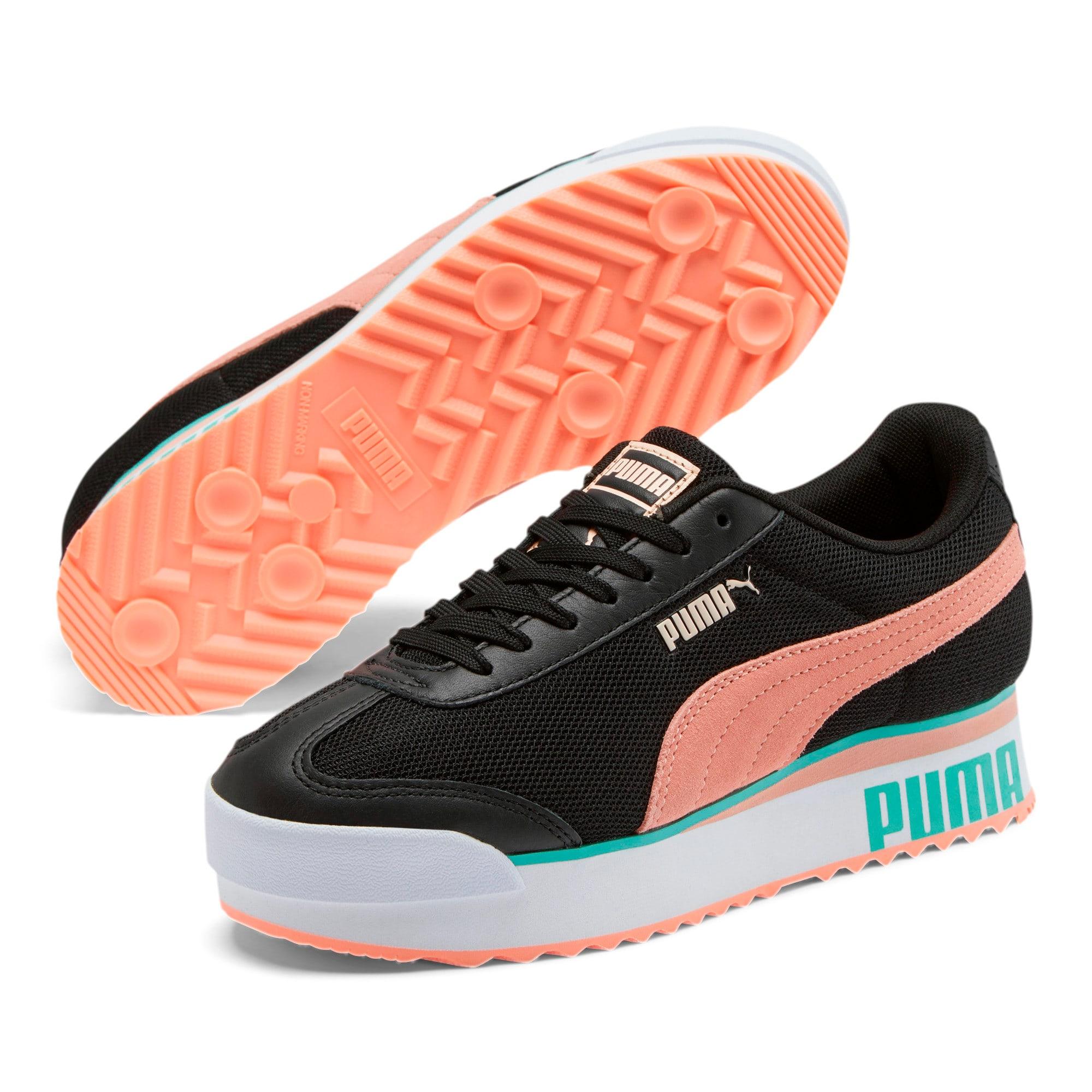 Thumbnail 2 of Roma Amor Mesh Mix Women's Sneakers, Black-Br Peach-Ble Turquoise, medium
