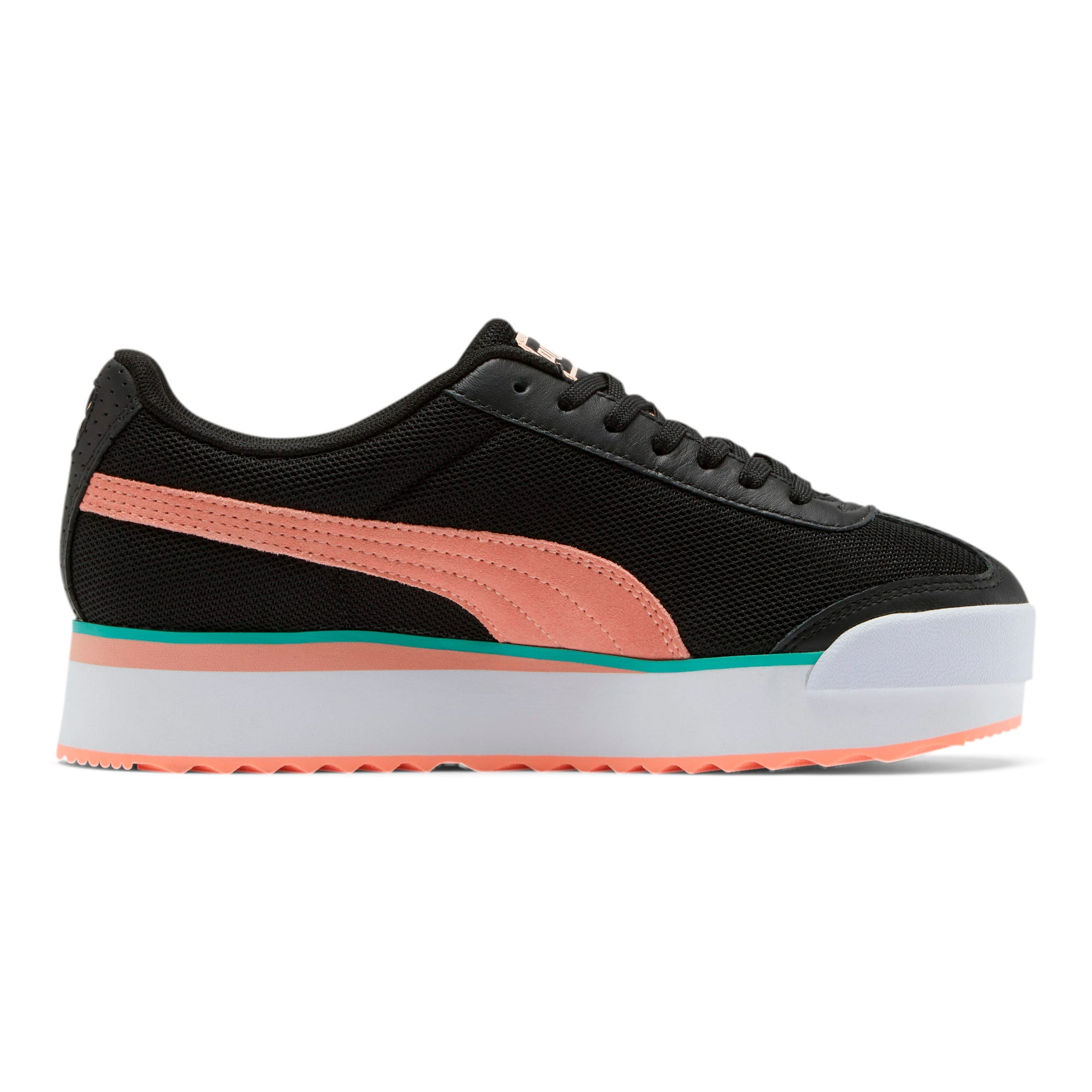 Thumbnail 5 of Roma Amor Mesh Mix Women's Sneakers, Black-Br Peach-Ble Turquoise, medium