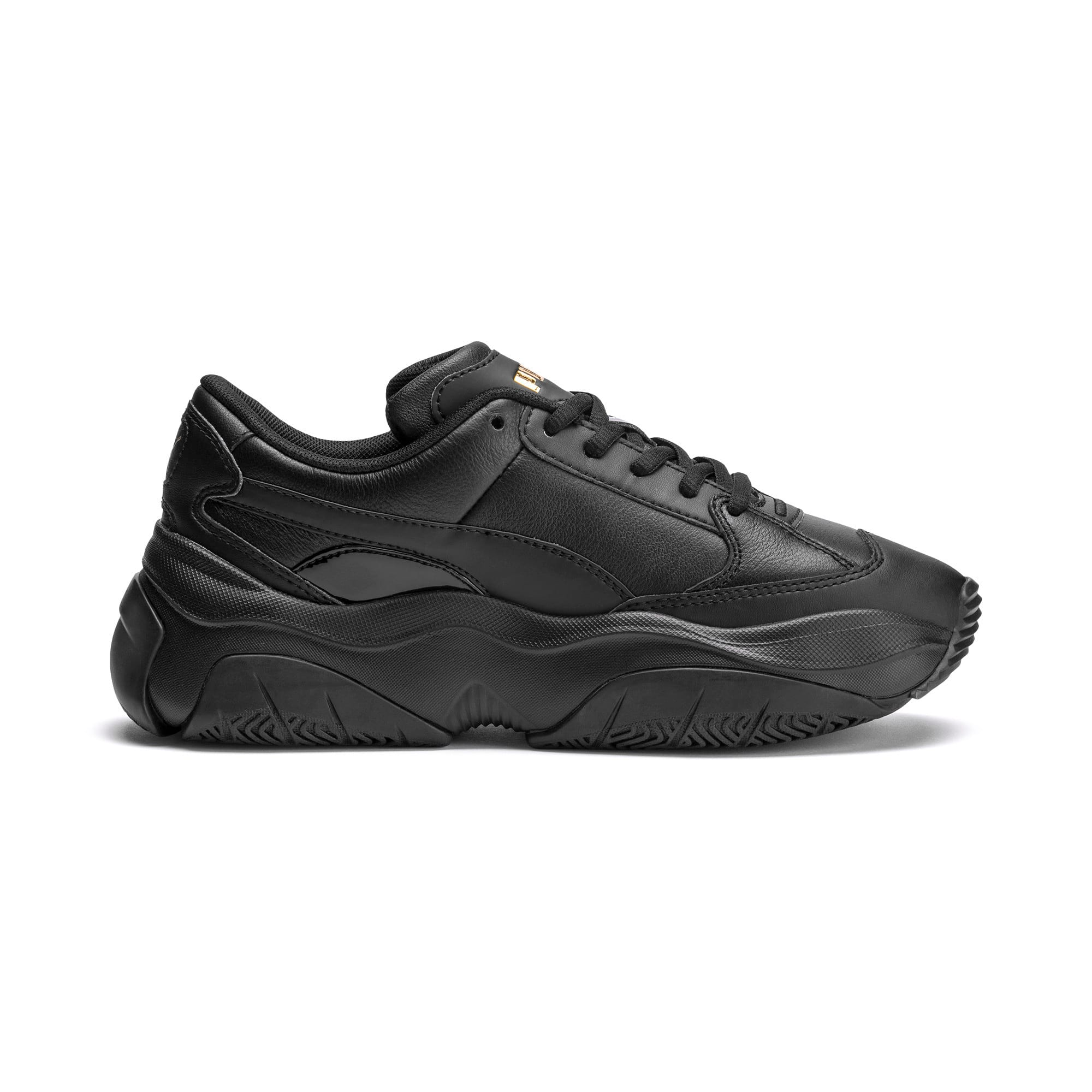 Thumbnail 5 of STORM.Y Leather Women's Trainers, Puma Black, medium