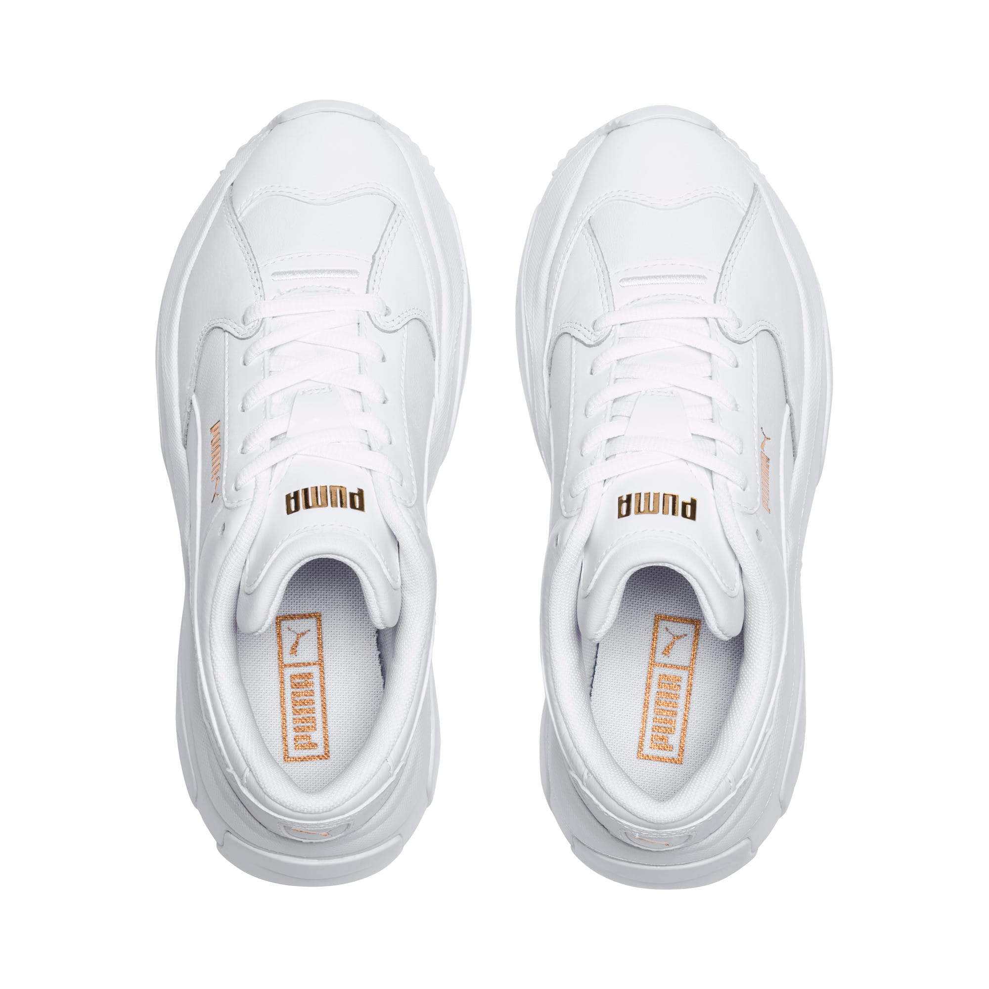 Thumbnail 6 of STORM.Y Leather Women's Trainers, Puma White, medium