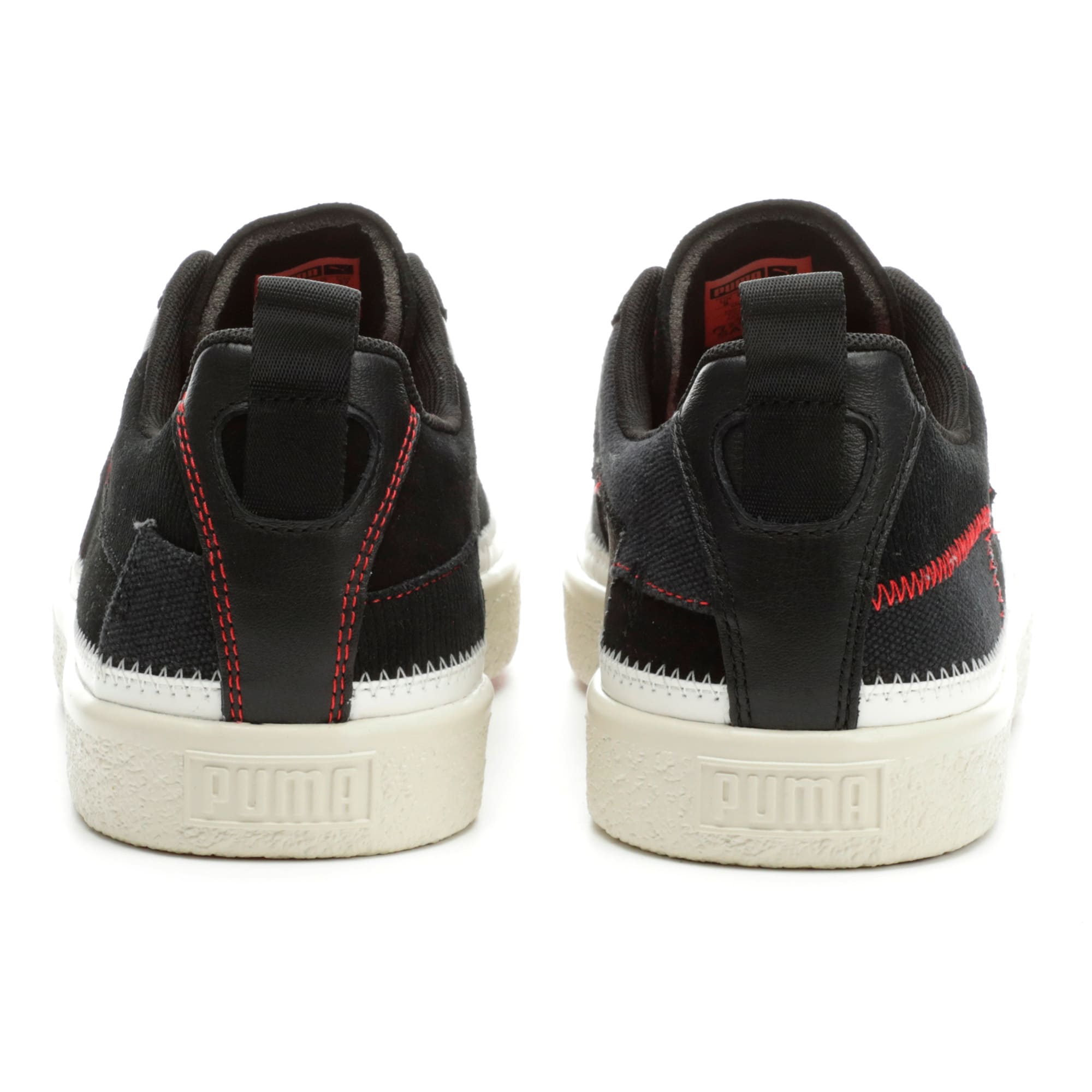 Thumbnail 3 of Clyde Reform Trainers, Black-Whisper White- Red, medium