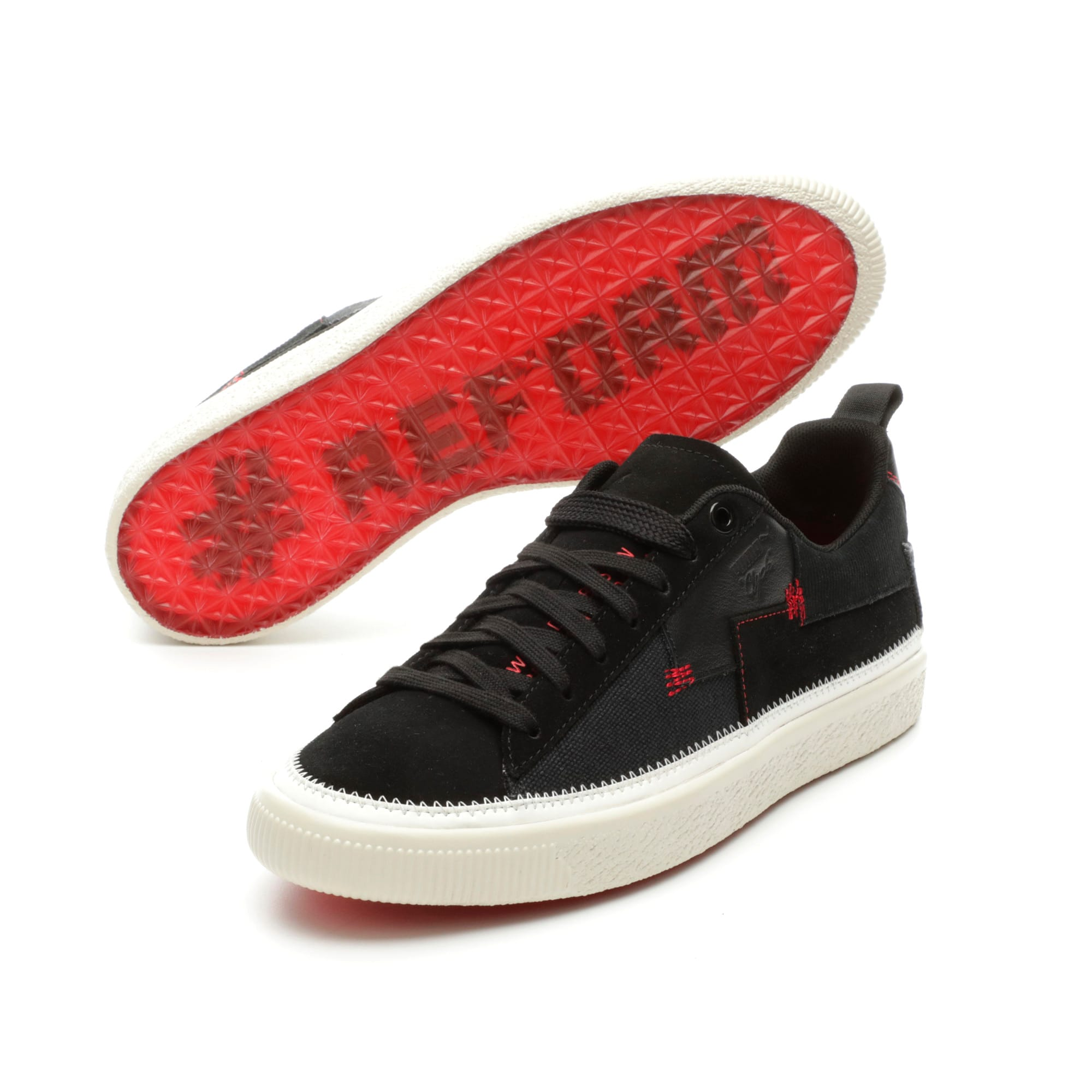 Thumbnail 2 of Clyde Reform Trainers, Black-Whisper White- Red, medium