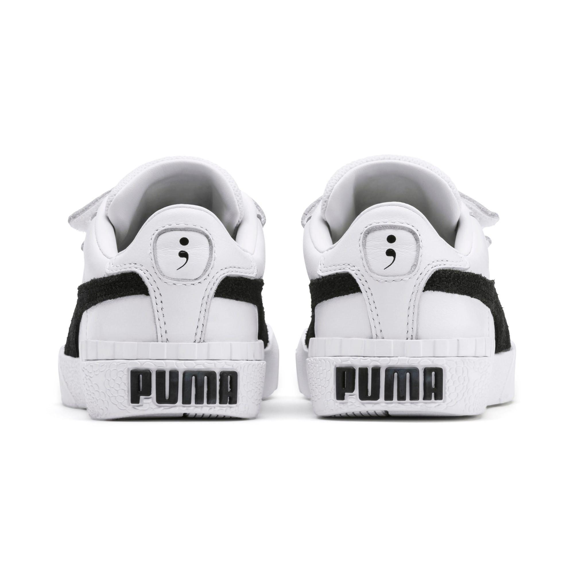 Thumbnail 3 of PUMA x Selena Gomez Kids' Cali B&W Trainers, Puma White-Puma Black, medium