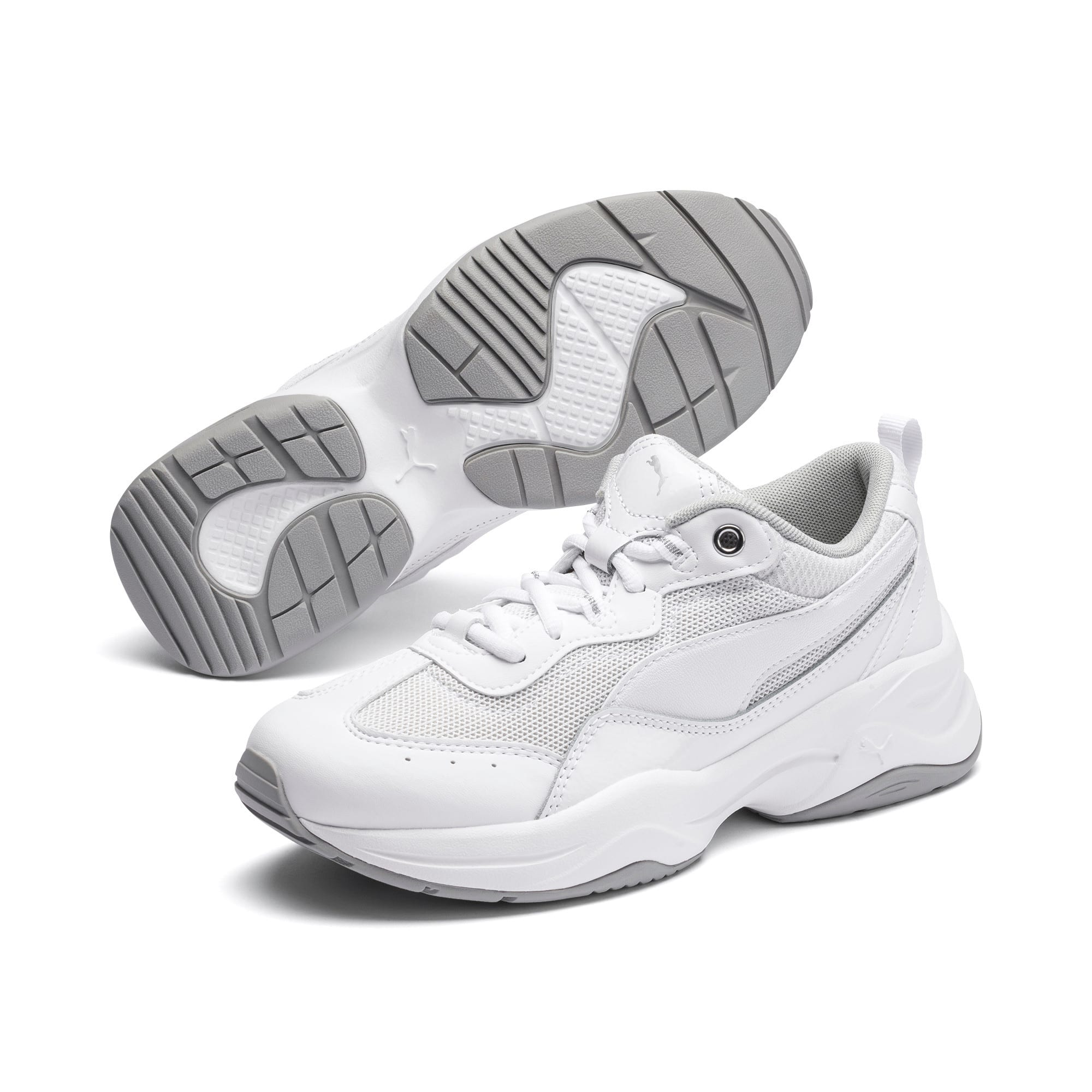 Thumbnail 2 of Cilia Patent Women's Trainers, White-Silver-Gray Violet, medium