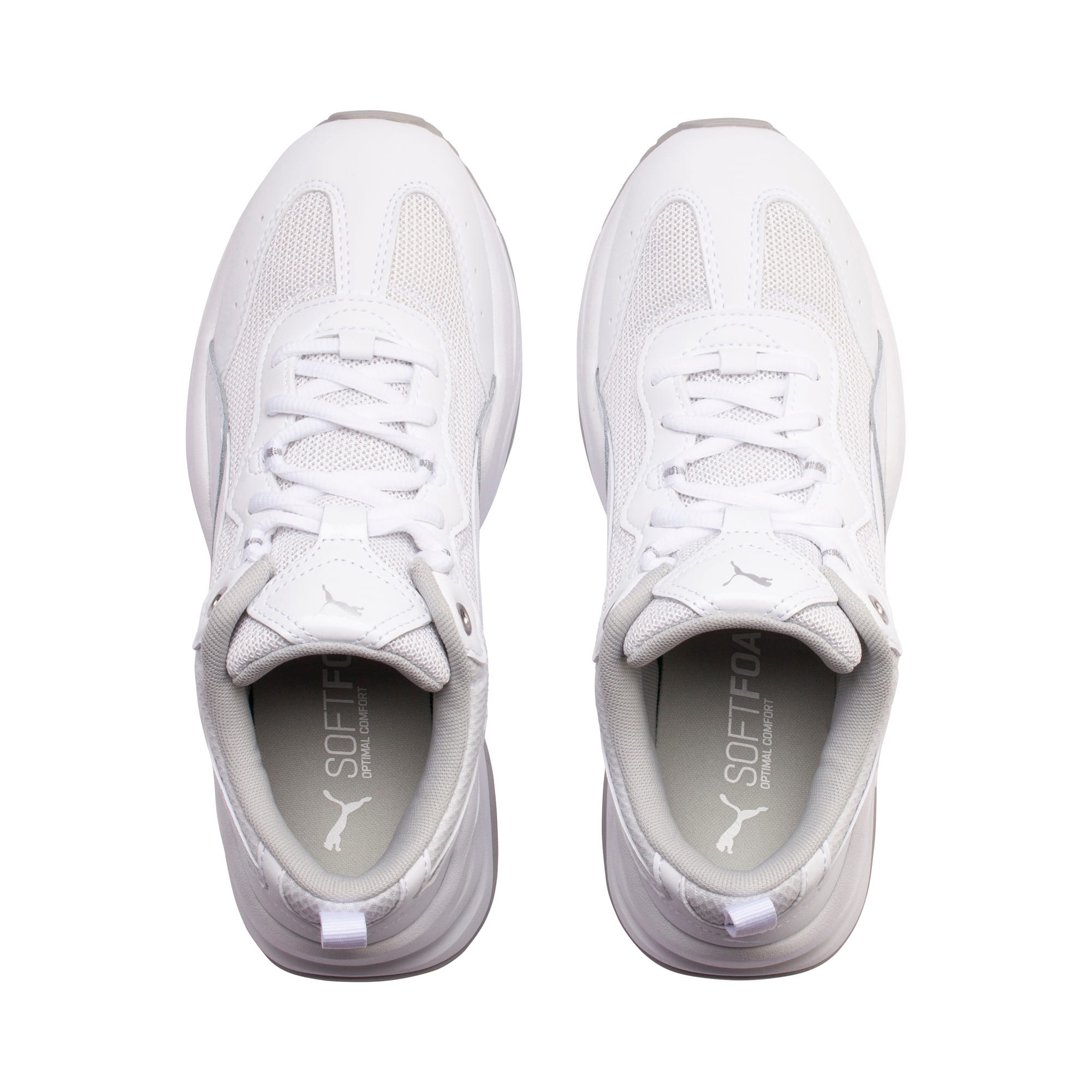 Thumbnail 6 of Cilia Patent Women's Trainers, White-Silver-Gray Violet, medium