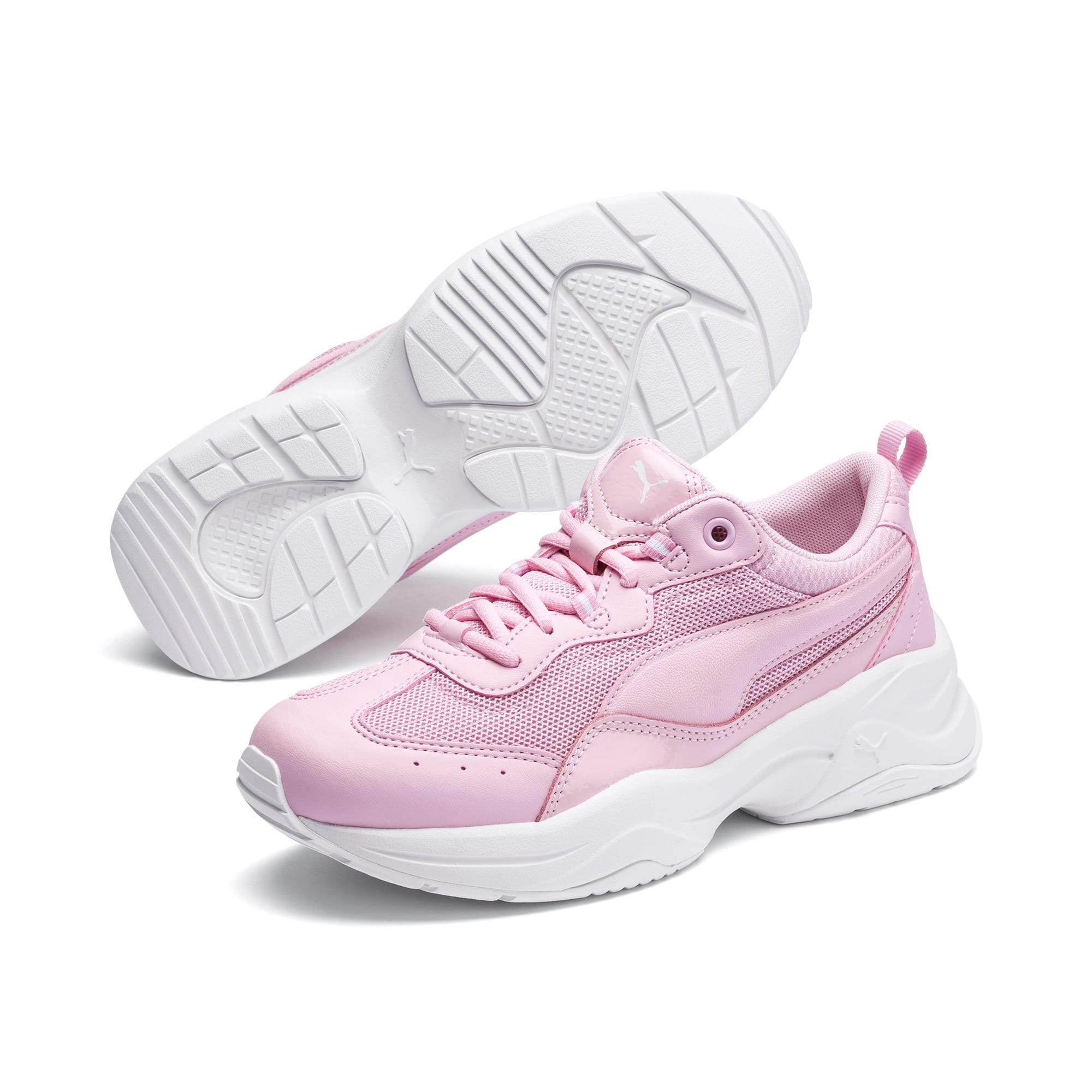 Thumbnail 2 of Cilia Patent Women's Trainers, Pink Lady-Puma White, medium