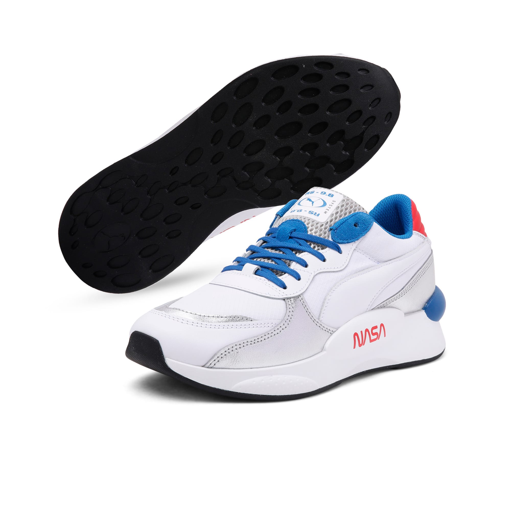 Thumbnail 2 of RS 9.8 Space Explorer Trainers, Puma White-Puma Silver, medium-IND