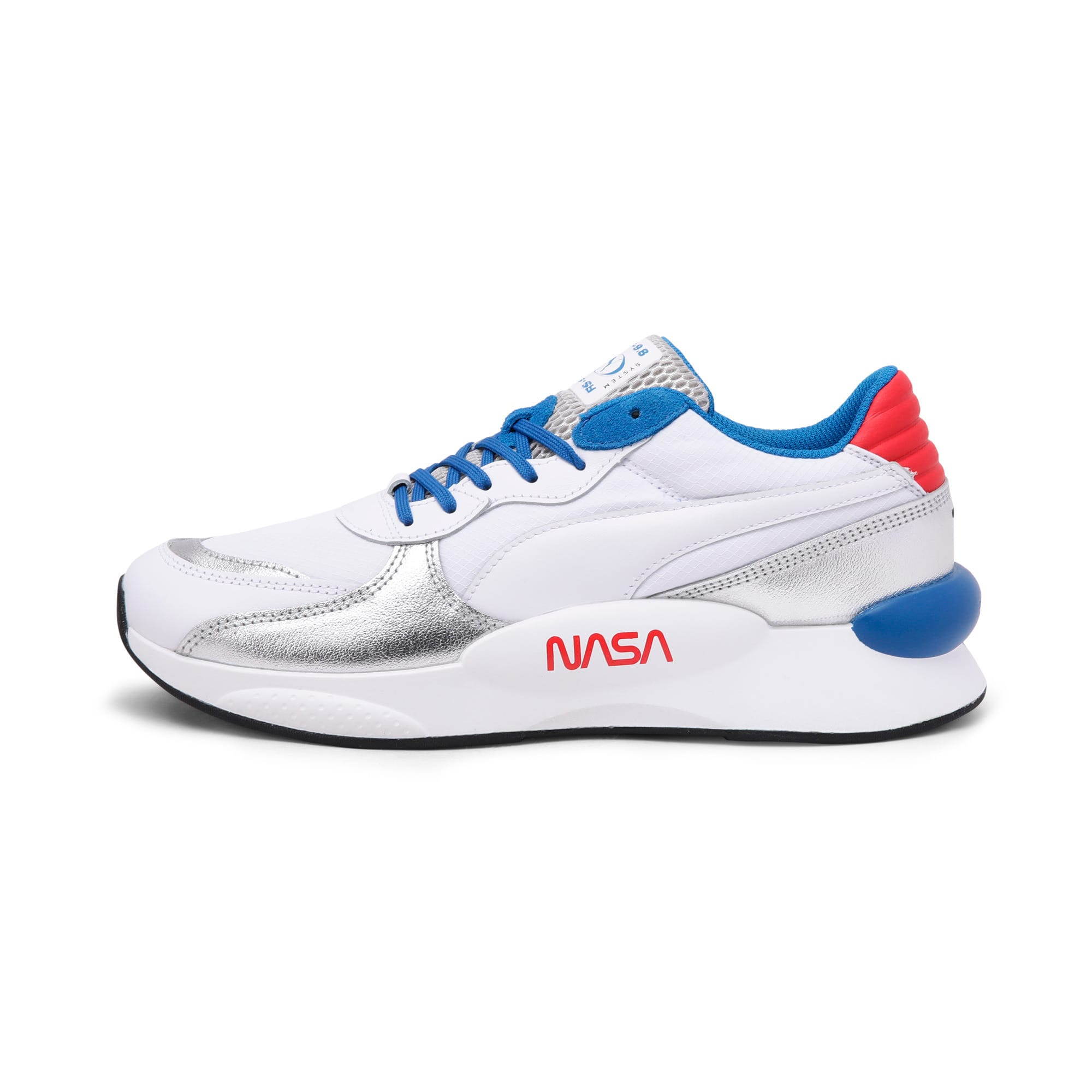 Thumbnail 1 of RS 9.8 Space Explorer Trainers, Puma White-Puma Silver, medium-IND