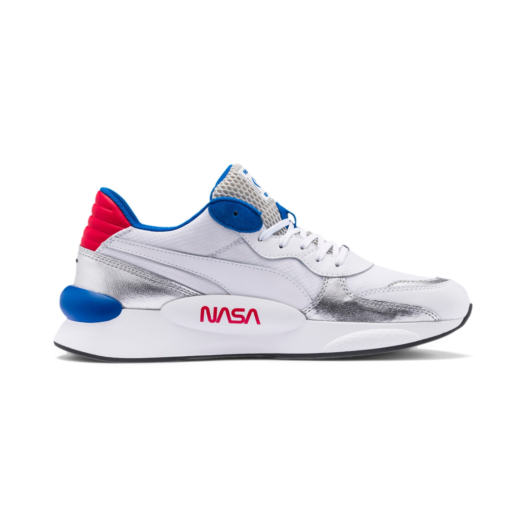 Thumbnail 5 of RS 9.8 Space Explorer Trainers, Puma White-Puma Silver, medium