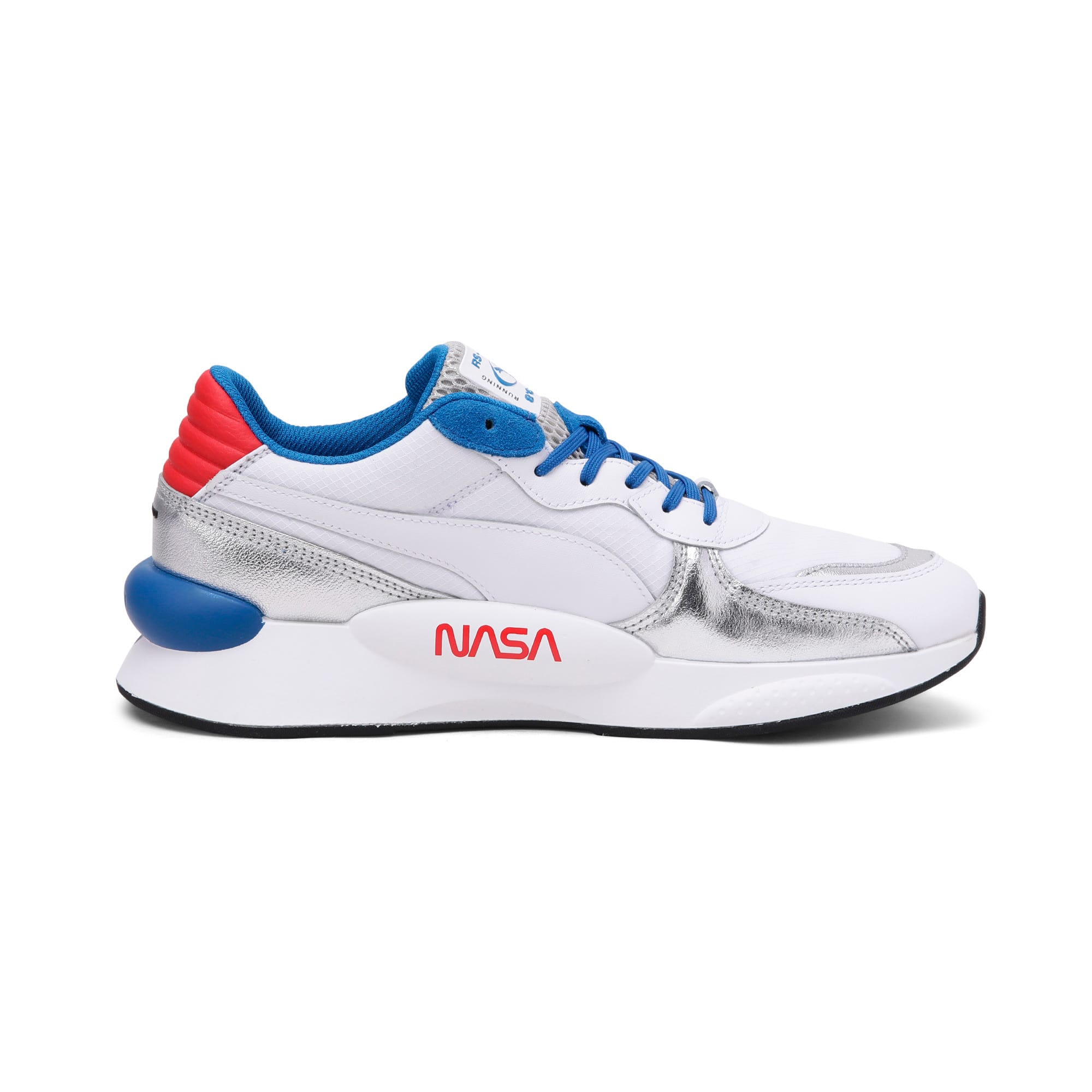 Thumbnail 5 of RS 9.8 Space Explorer Trainers, Puma White-Puma Silver, medium-IND
