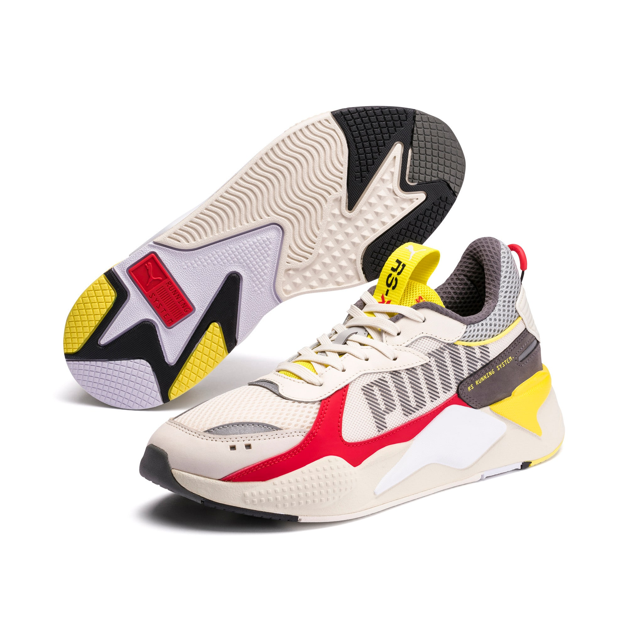 Thumbnail 2 of RS-X Bold Trainers, Whisper White-High Risk Red, medium