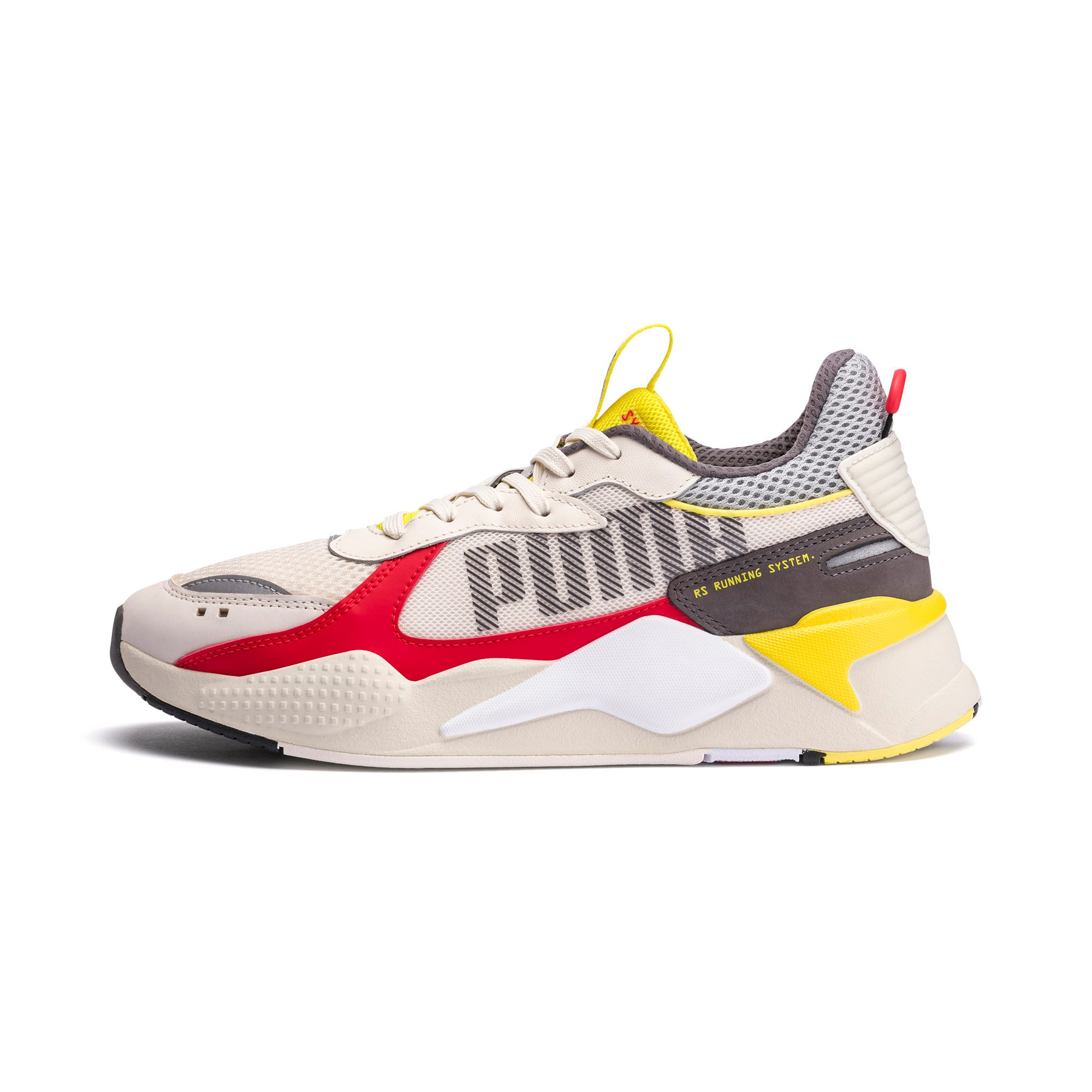 Thumbnail 1 of RS-X Bold Trainers, Whisper White-High Risk Red, medium