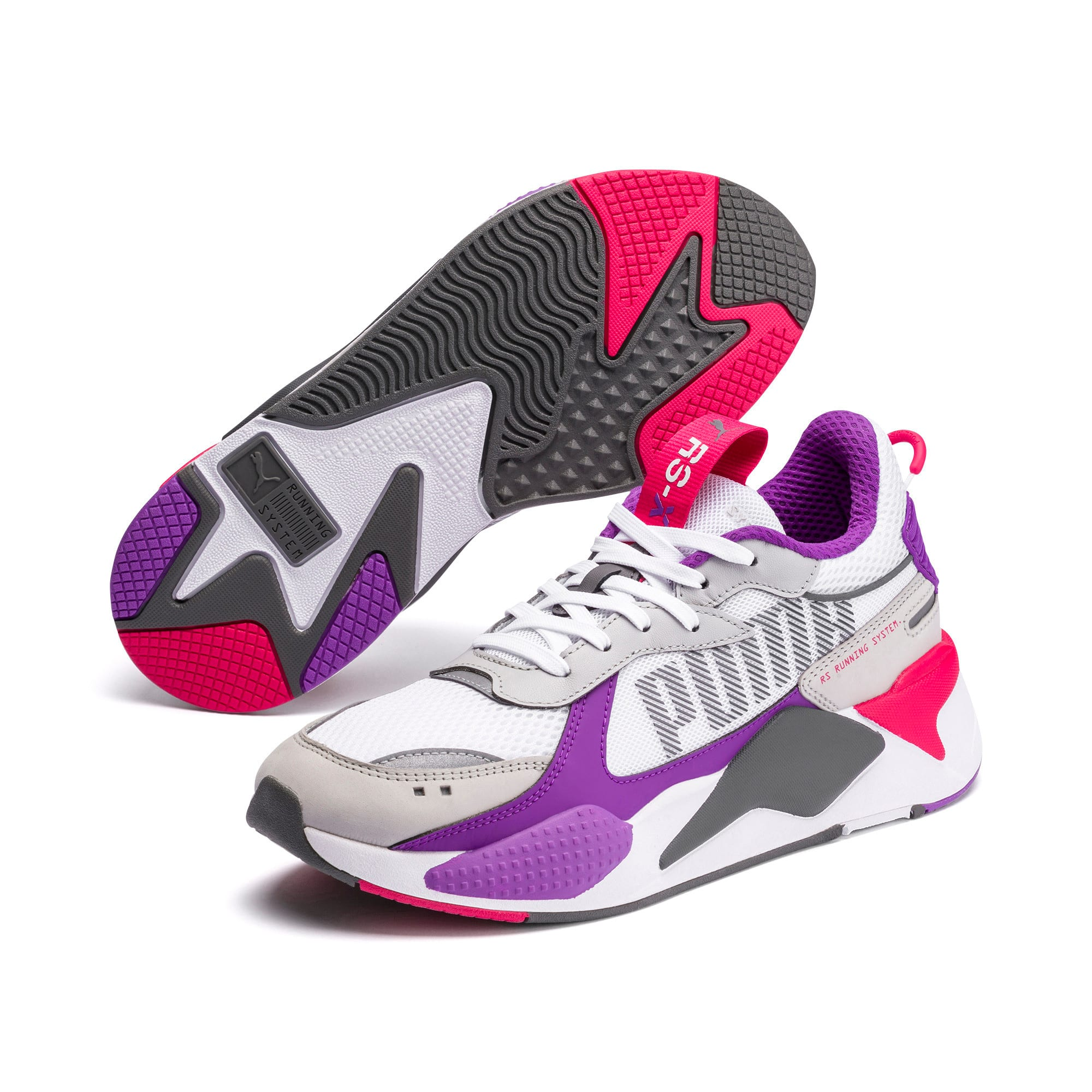 Thumbnail 2 of RS-X Bold Trainers, PWhite-High Rise-Royal Lilac, medium
