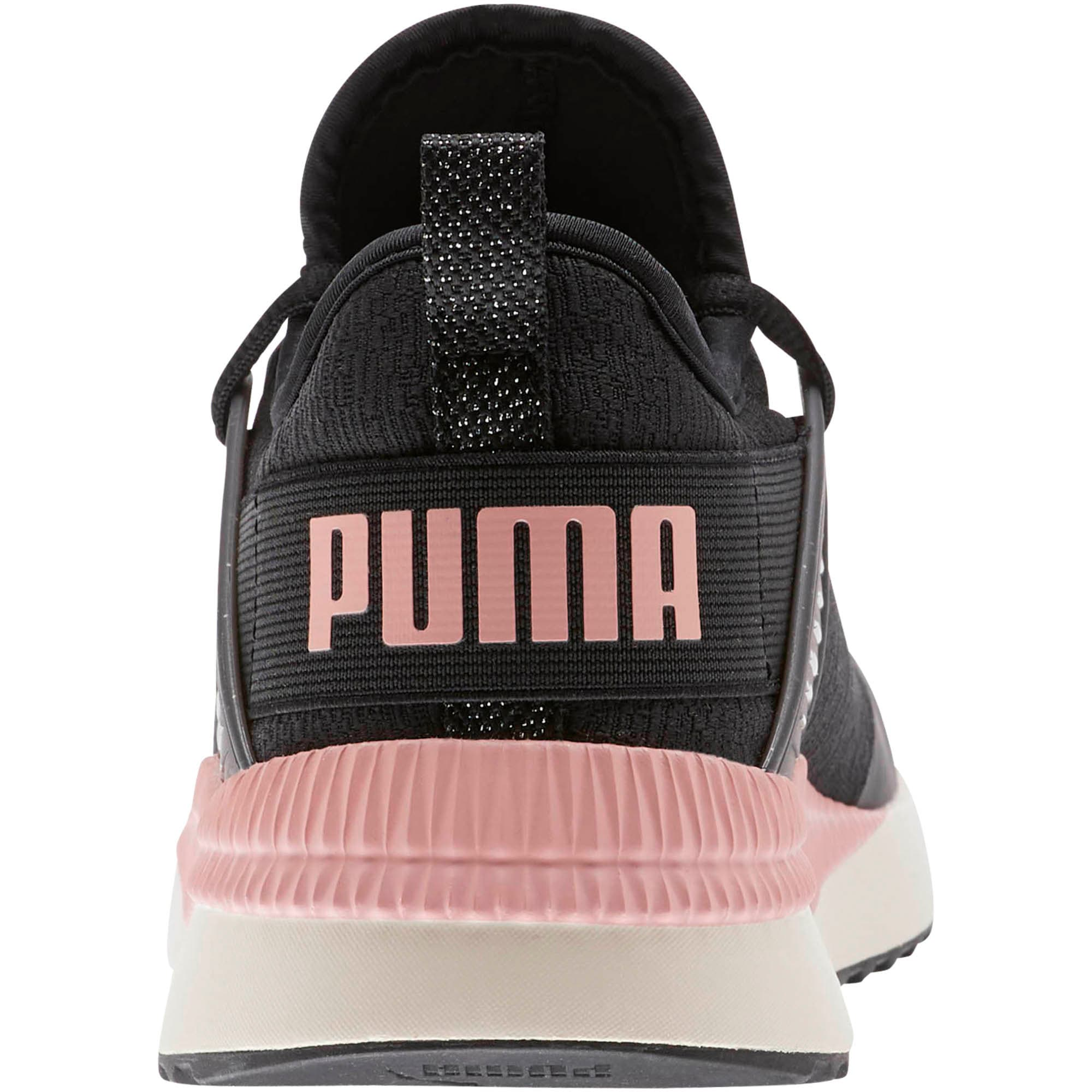 Thumbnail 3 of Pacer Next Cage Glitter Women's Sneakers, Puma Black-Bridal Rose, medium