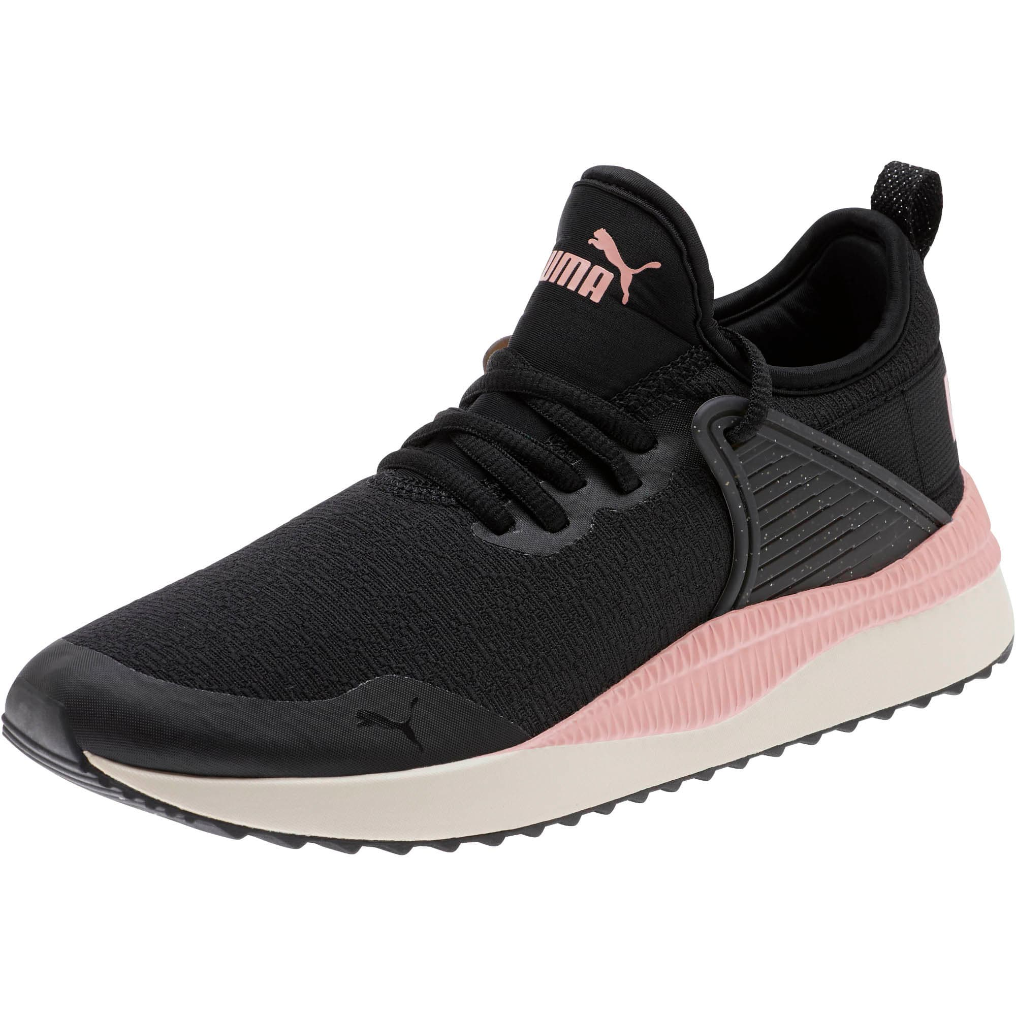 Thumbnail 1 of Pacer Next Cage Glitter Women's Sneakers, Puma Black-Bridal Rose, medium