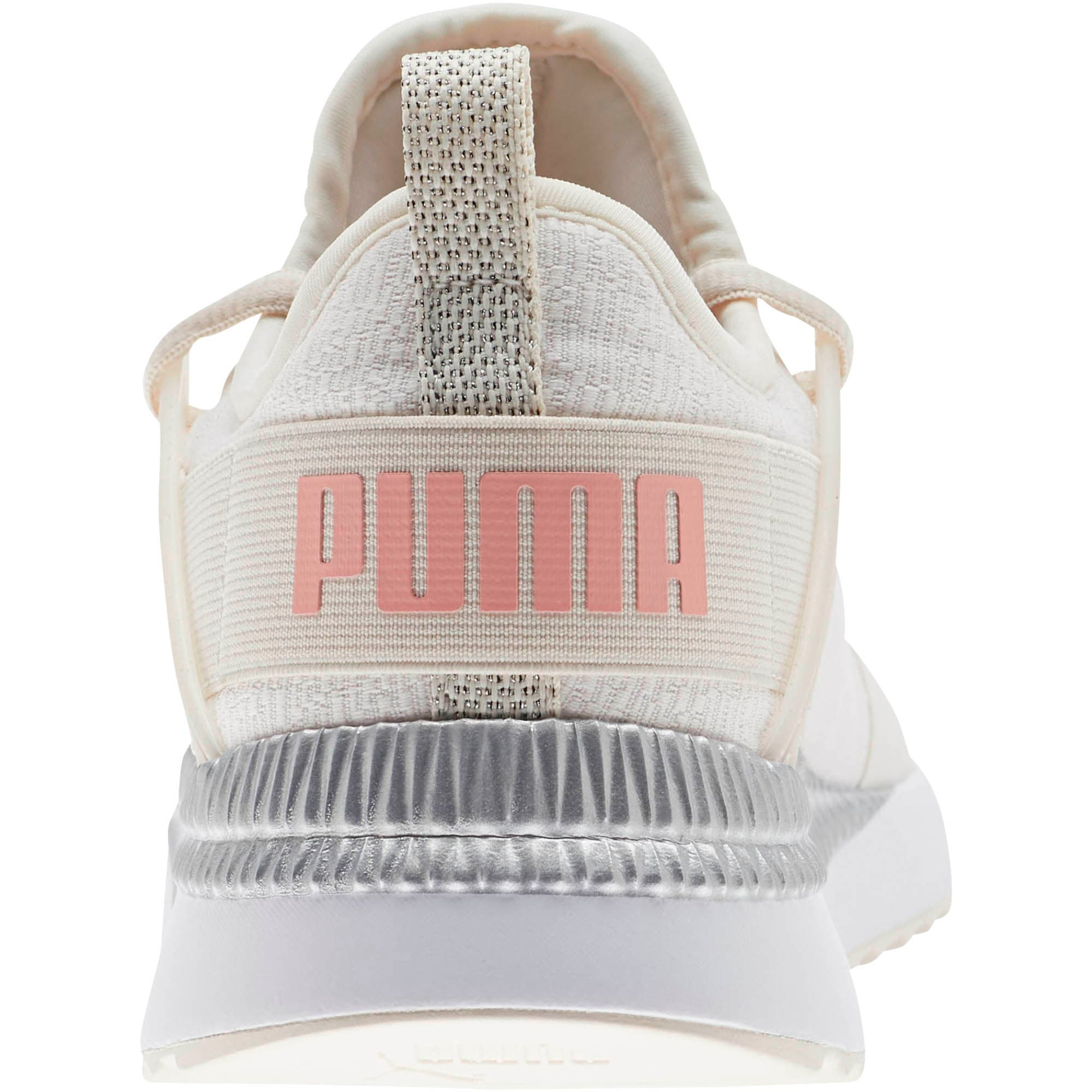 Thumbnail 3 of Pacer Next Cage Glitter Women's Sneakers, Pastel Parchment-Bridal Rose, medium