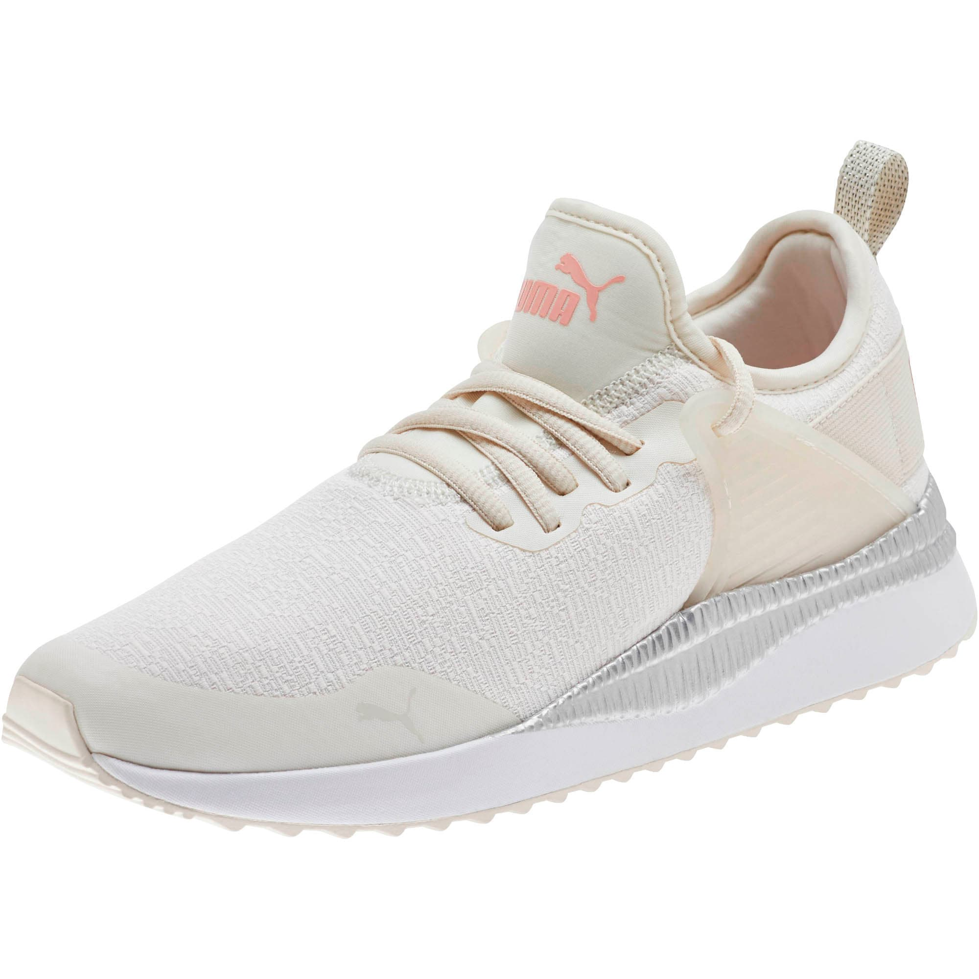 Thumbnail 1 of Pacer Next Cage Glitter Women's Sneakers, Pastel Parchment-Bridal Rose, medium
