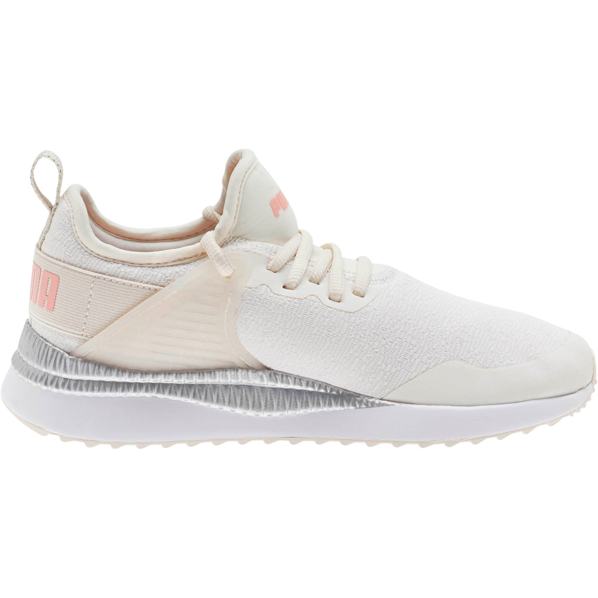 Thumbnail 4 of Pacer Next Cage Glitter Women's Sneakers, Pastel Parchment-Bridal Rose, medium