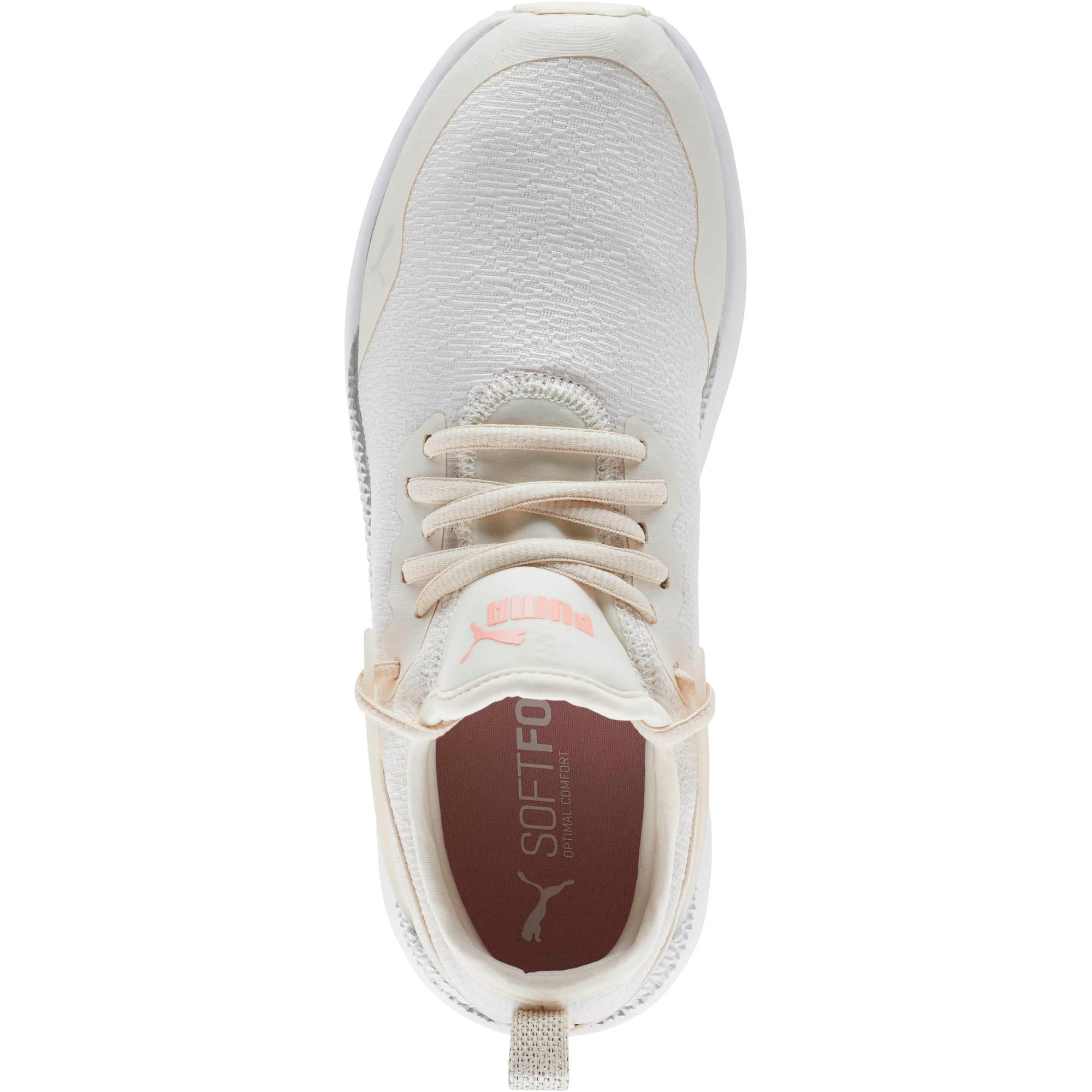 Thumbnail 5 of Pacer Next Cage Glitter Women's Sneakers, Pastel Parchment-Bridal Rose, medium