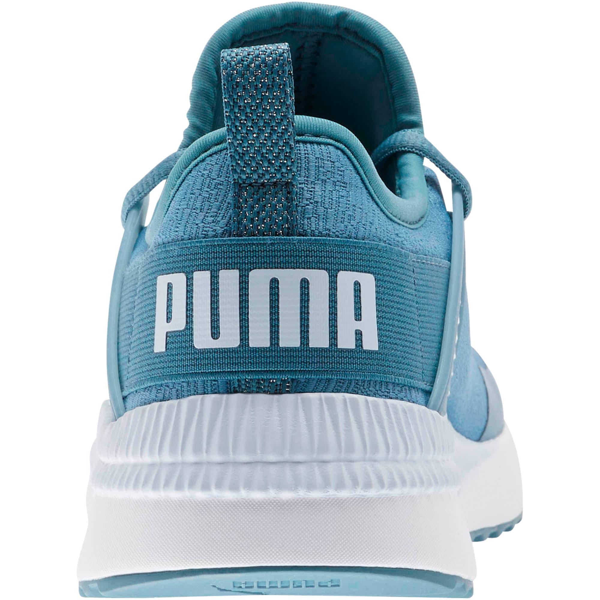 Thumbnail 3 of Pacer Next Cage Glitter Women's Sneakers, Bluestone-Heather-Puma White, medium