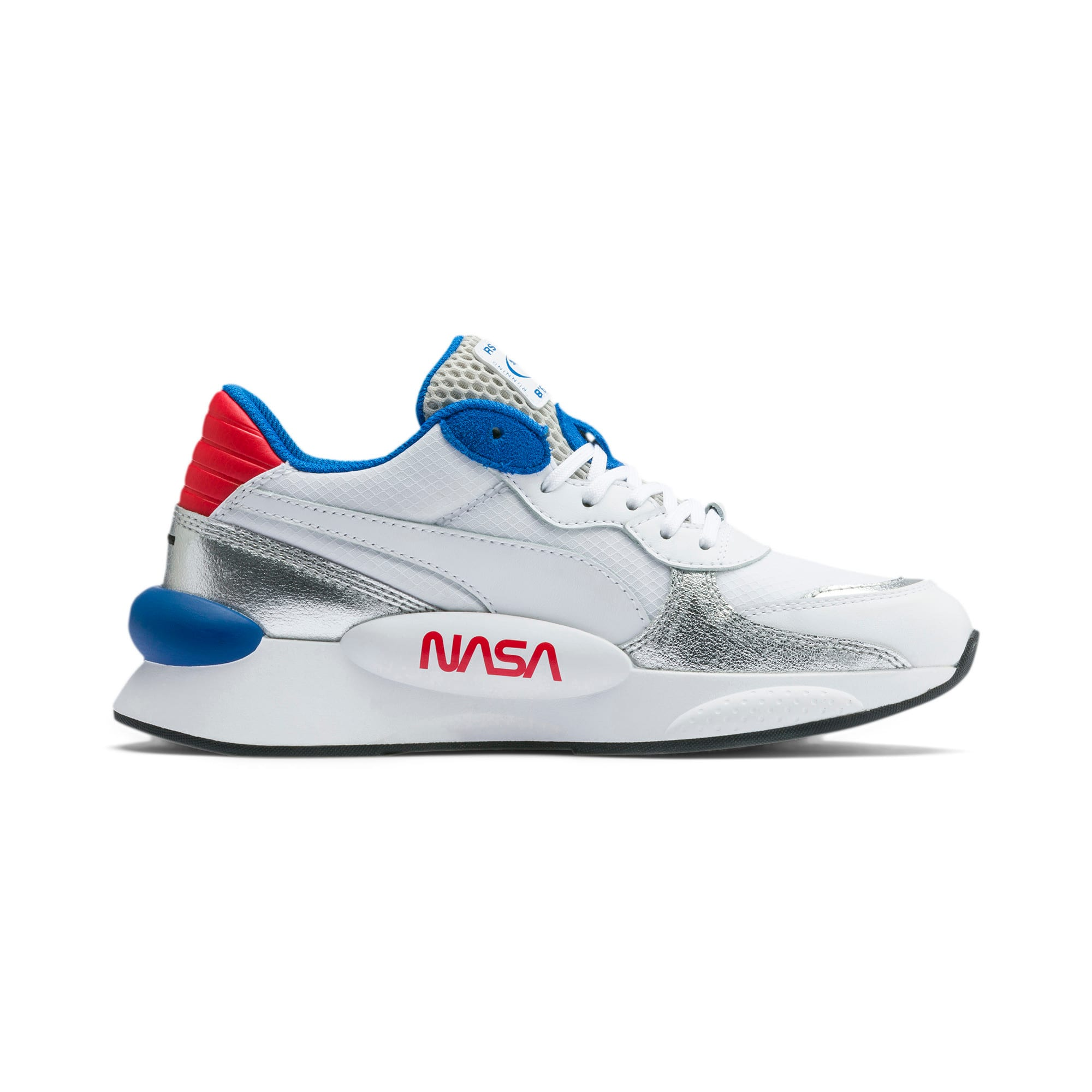 Scarpe da ginnastica RS 9.8 Space Explorer Youth, Puma White-Puma Silver, Grande