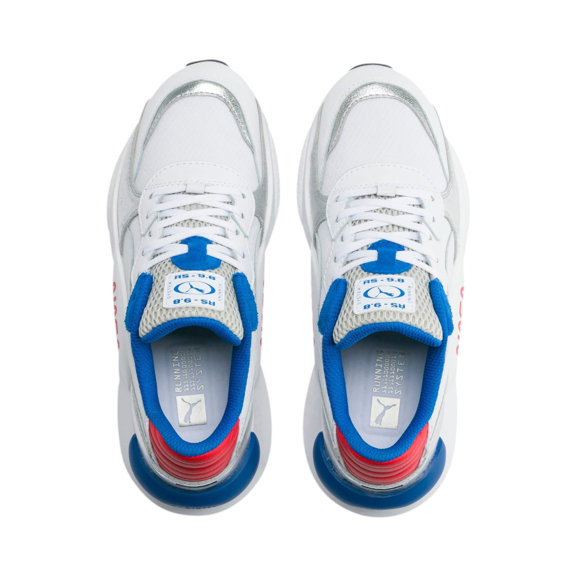 Thumbnail 6 of RS 9.8 Space Agency Sneakers JR, Puma White-Puma Silver, medium
