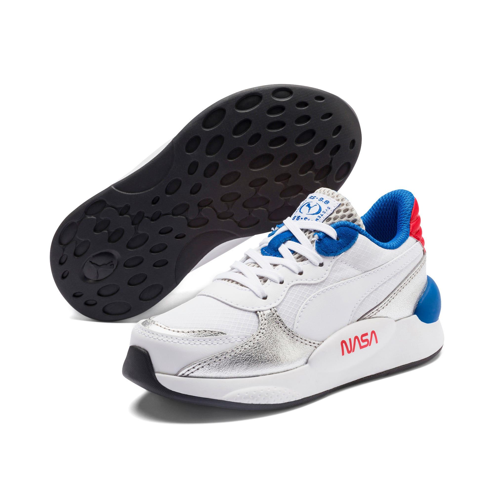 Thumbnail 2 of RS 9.8 Space Agency Little Kids' Shoes, Puma White-Puma Silver, medium