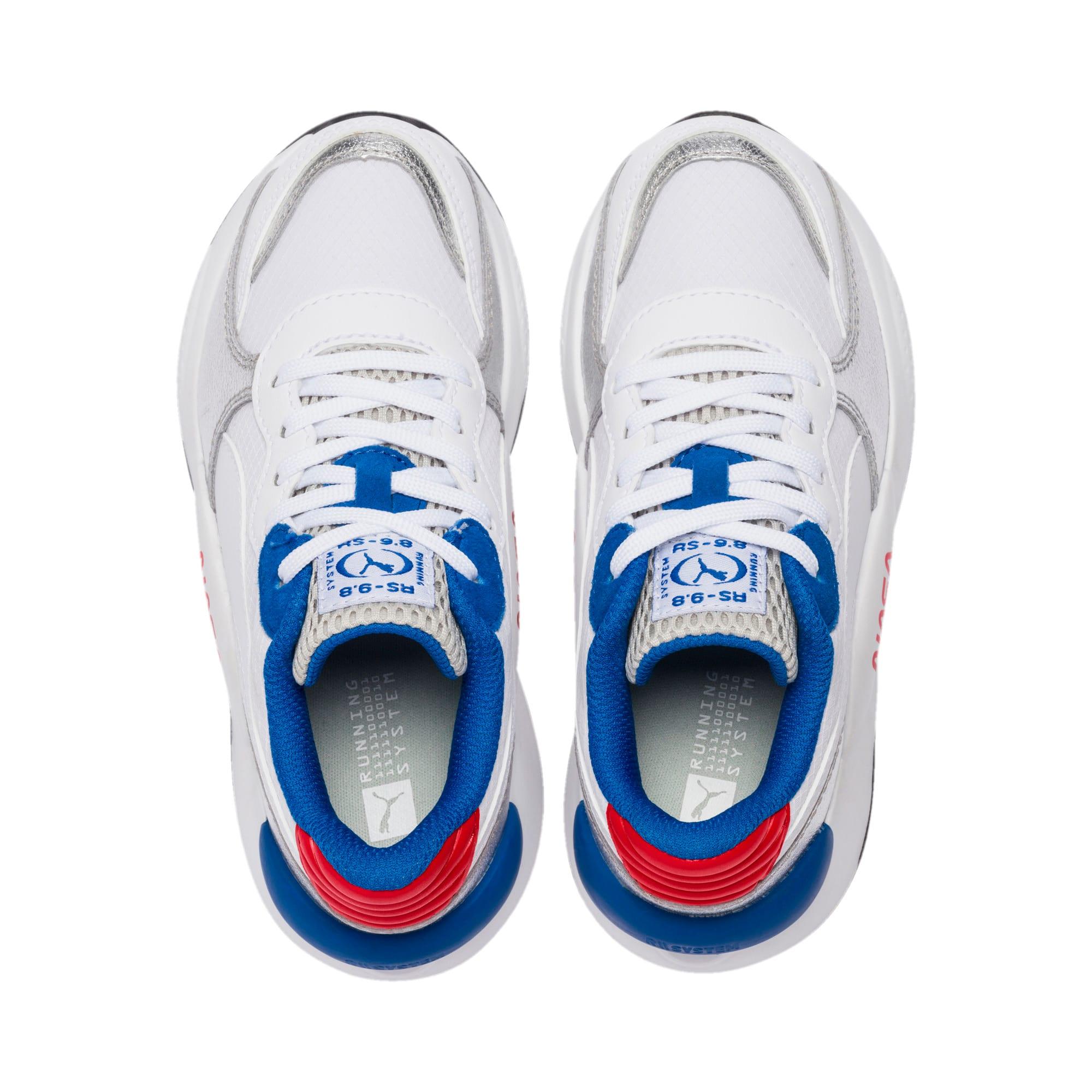 Thumbnail 6 of RS 9.8 Space Agency Little Kids' Shoes, Puma White-Puma Silver, medium