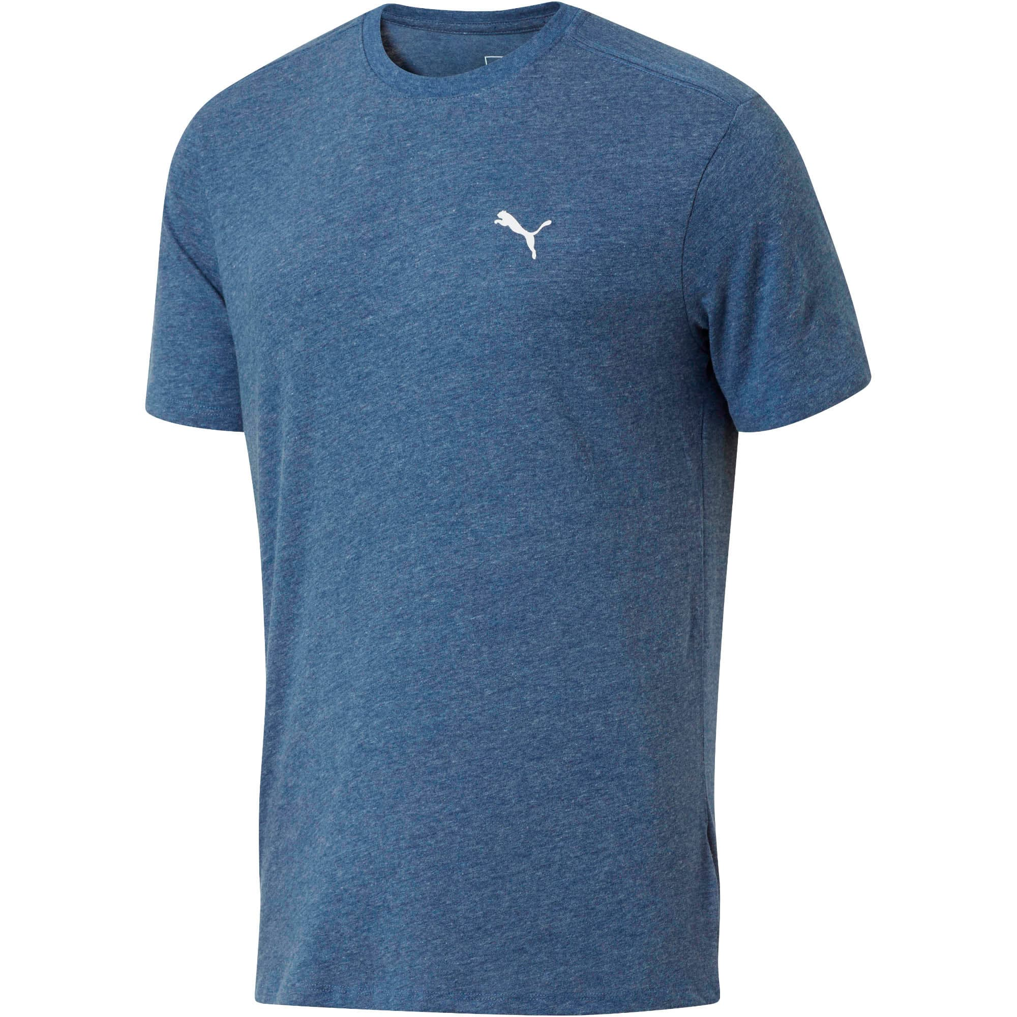 Thumbnail 1 of Essential Short Sleeve Crew T-Shirt, Blue Depths Heather, medium