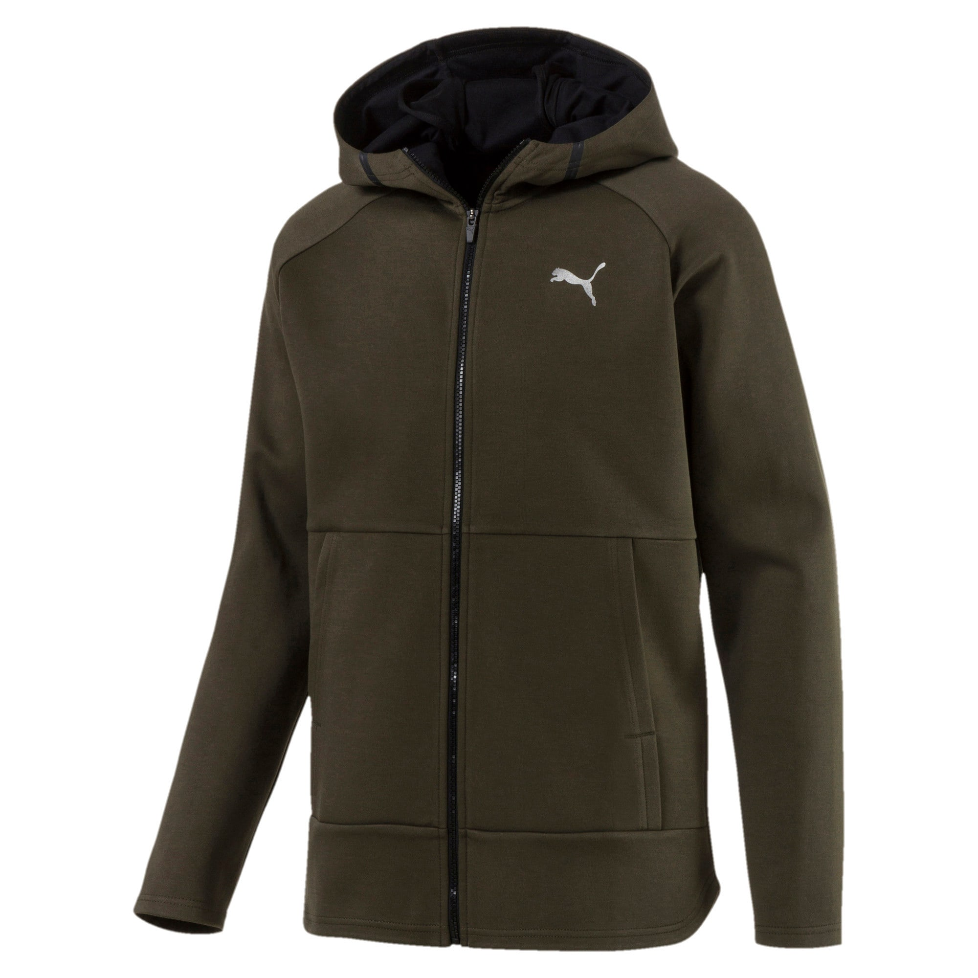 Thumbnail 1 of BND Tech Protect Zip-Up Hooded Men's Jacket, Forest Night, medium