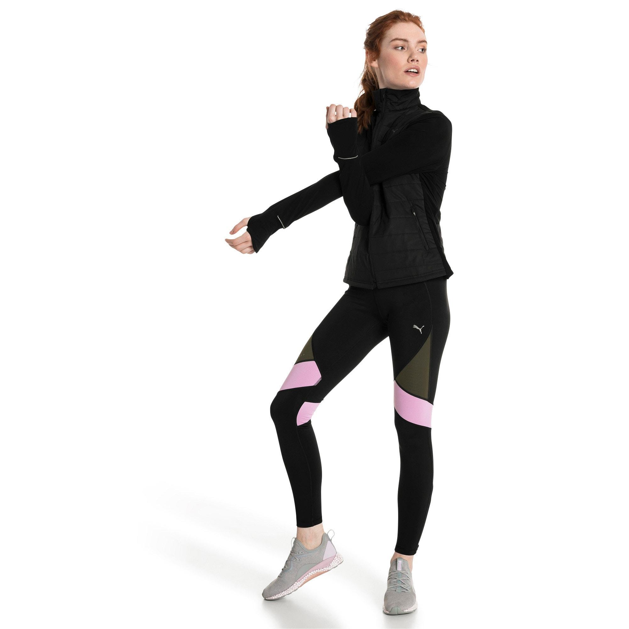 Thumbnail 5 of IGNITE Women's Running Tights, Black-Forest Night-Orchid, medium