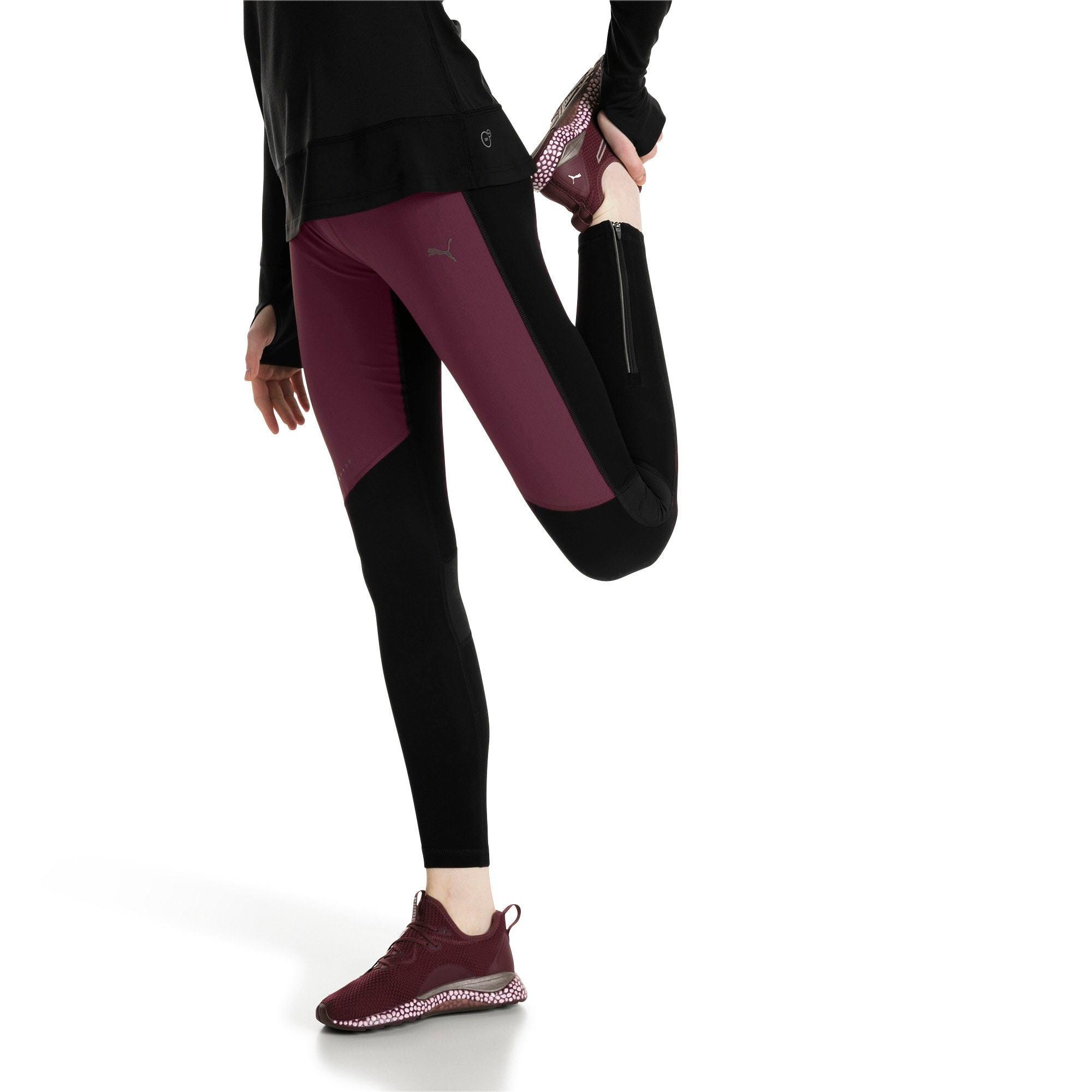 Thumbnail 2 of Winter Women's Long Tights, Fig-Puma Black, medium