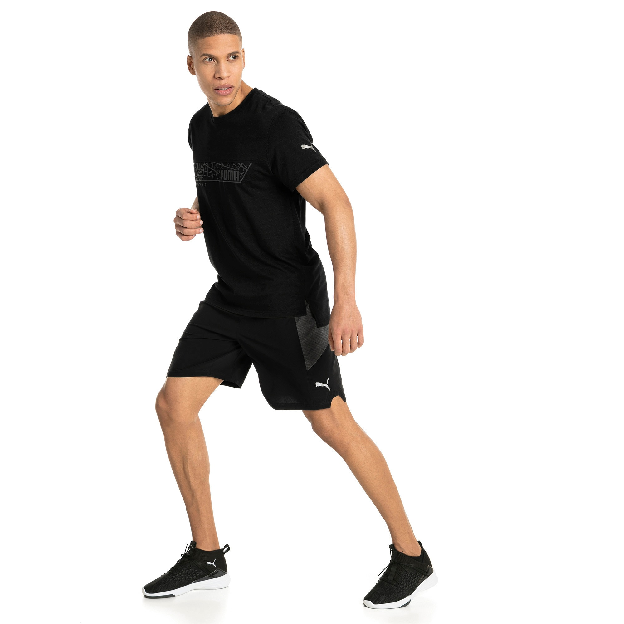 Energy Triblend Graphic Men's Running Tee, Puma Black, large