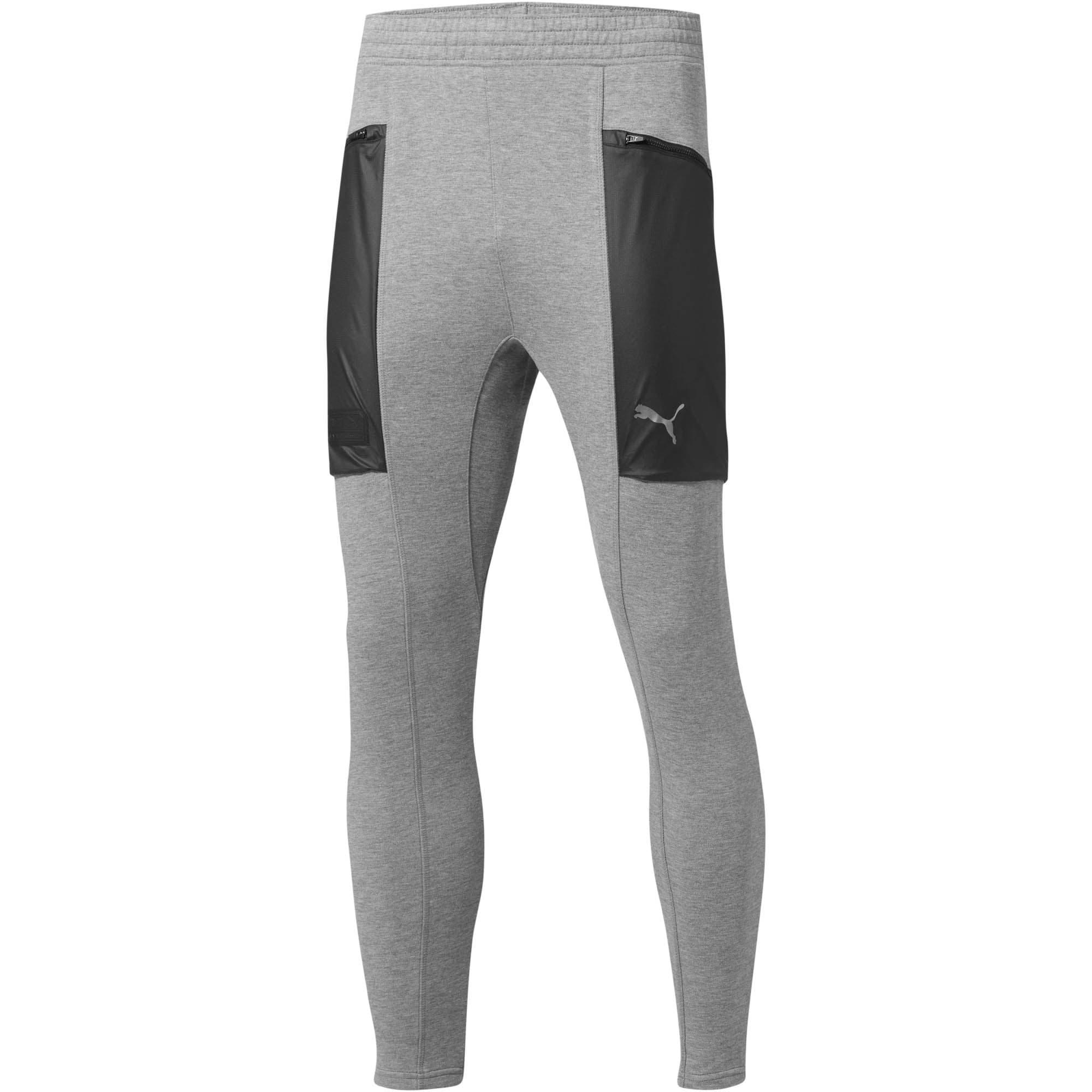 Thumbnail 1 of Energy Actum Men's Running Sweatpants, Medium Gray Heather, medium