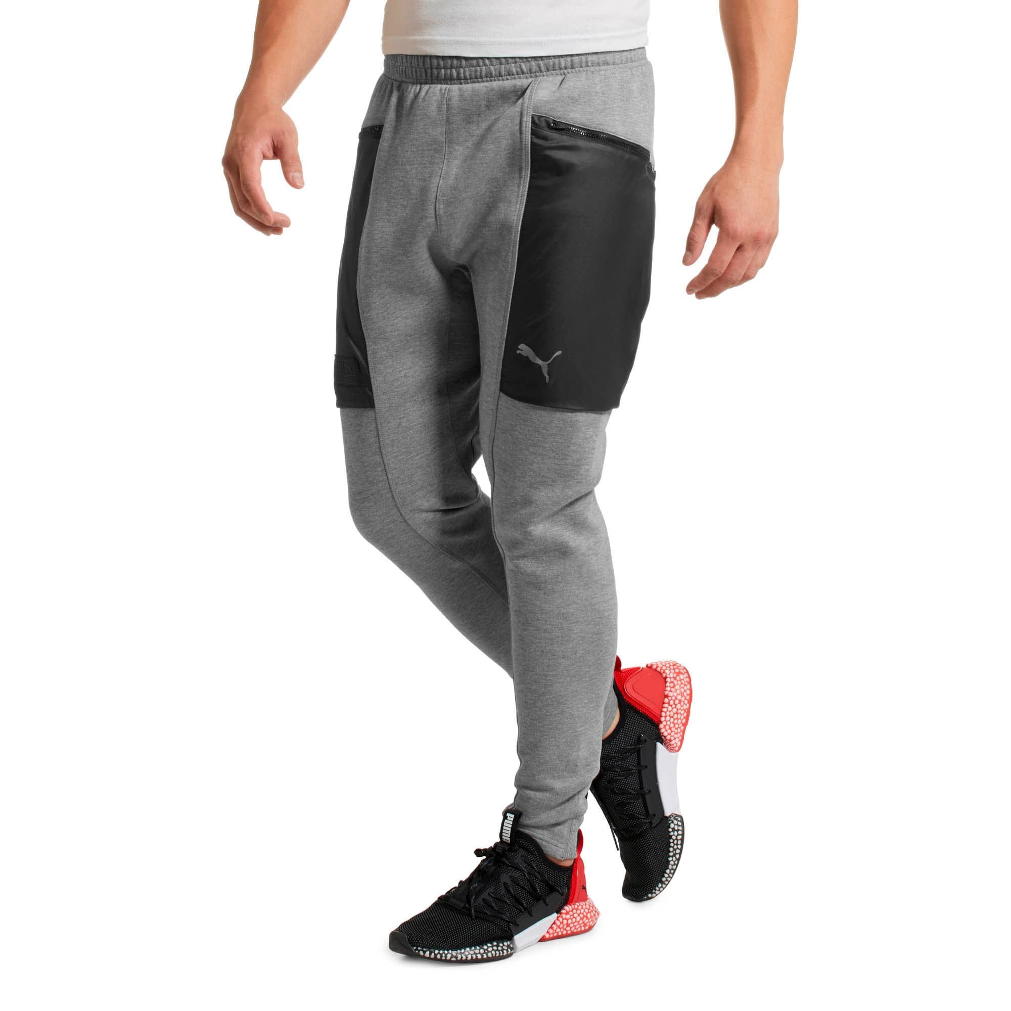 Thumbnail 2 of Energy Actum Men's Running Sweatpants, Medium Gray Heather, medium
