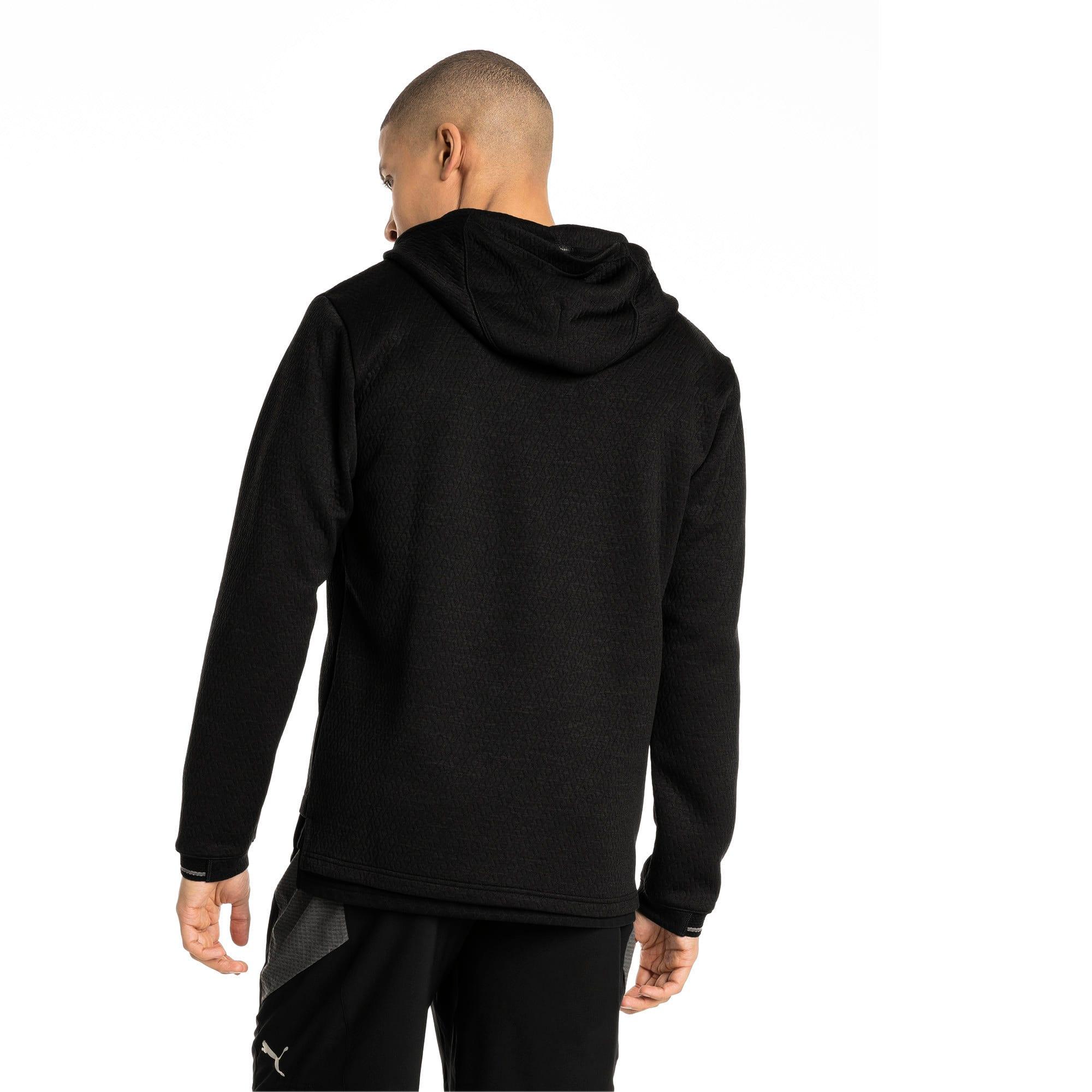 Thumbnail 3 of Energy Zip-Up Hooded Men's Running Jacket, Puma Black Heather, medium