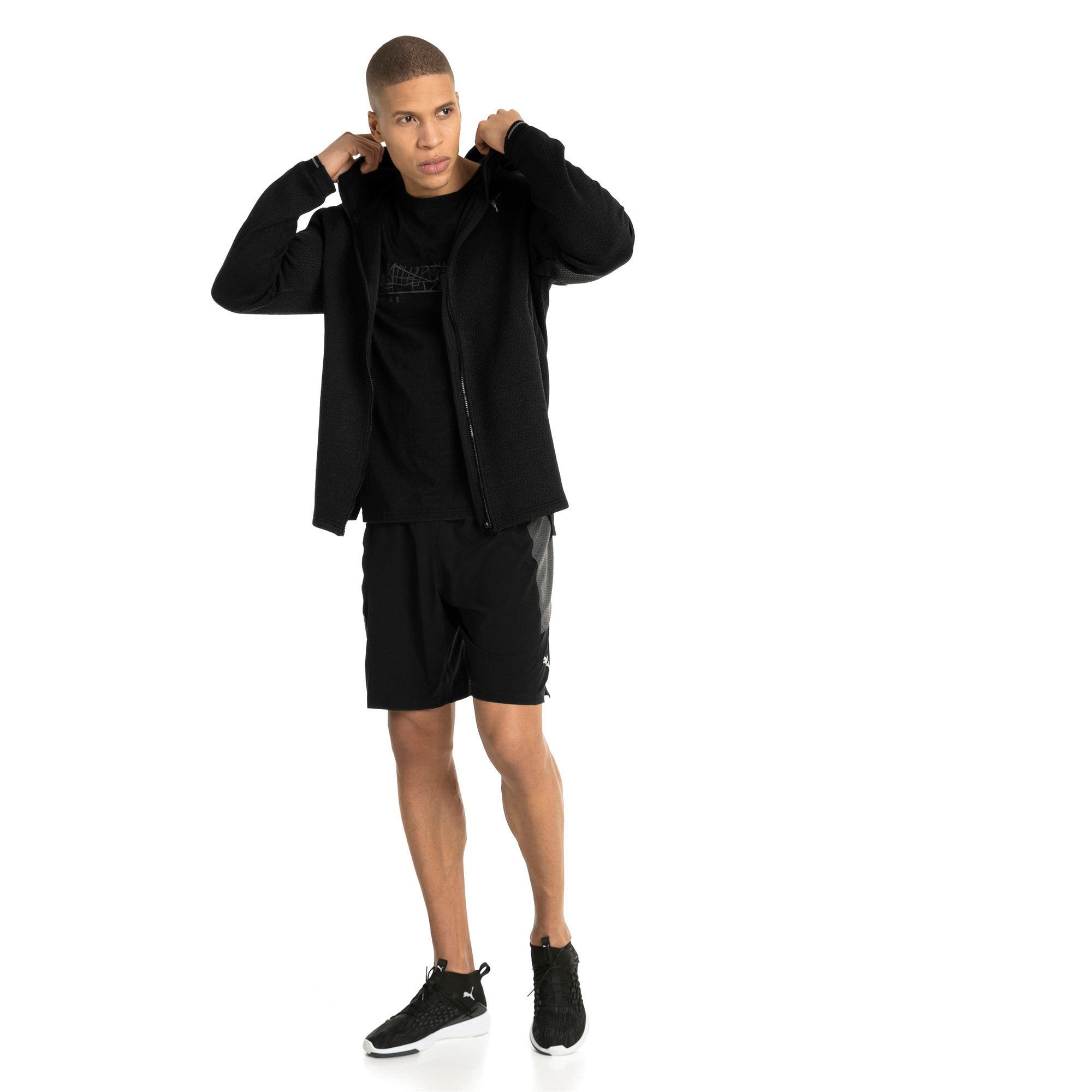 Thumbnail 5 of Energy Zip-Up Hooded Men's Running Jacket, Puma Black Heather, medium