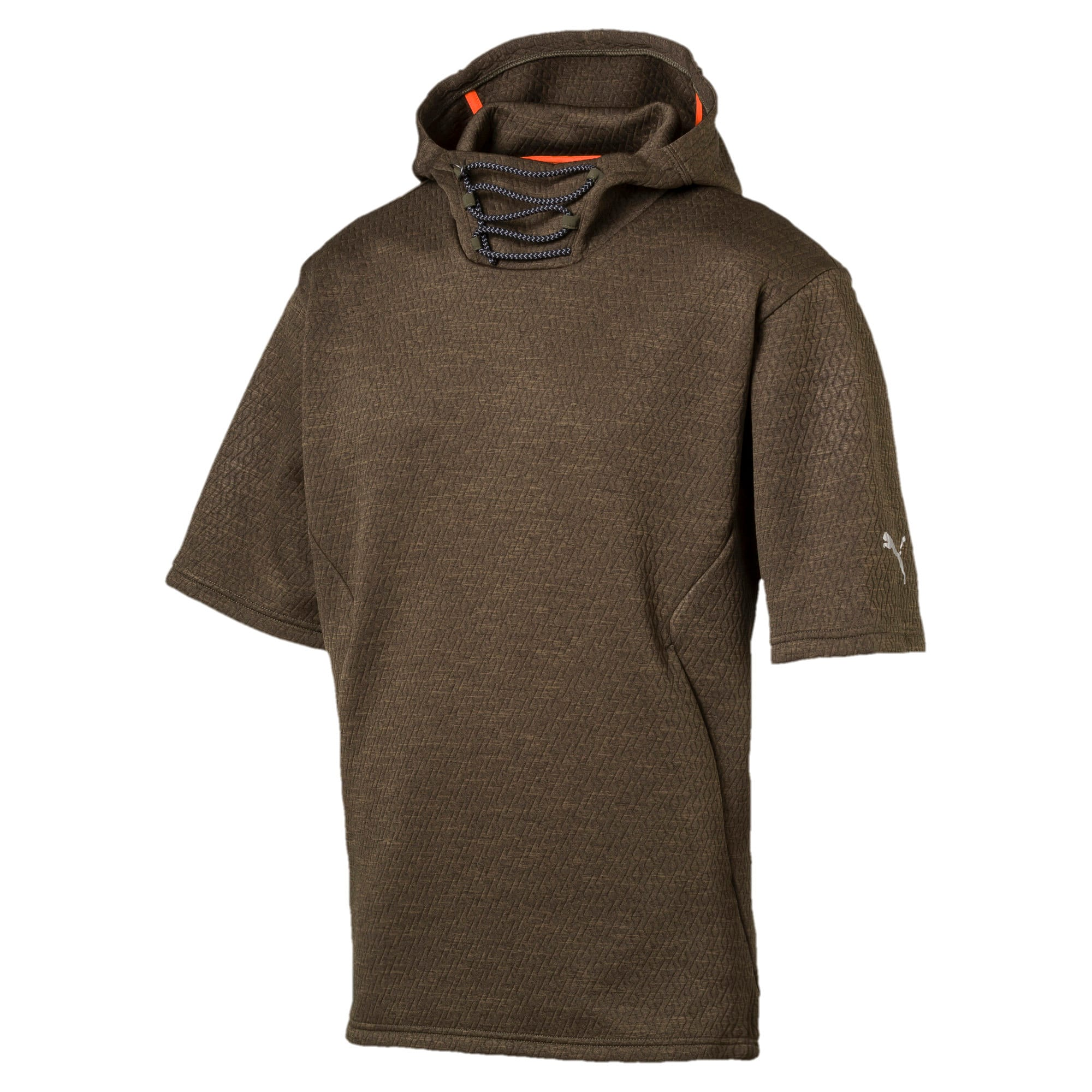 Thumbnail 1 of Training Men's Energy Short Sleeve Hoodie, Forest Night Heather, medium
